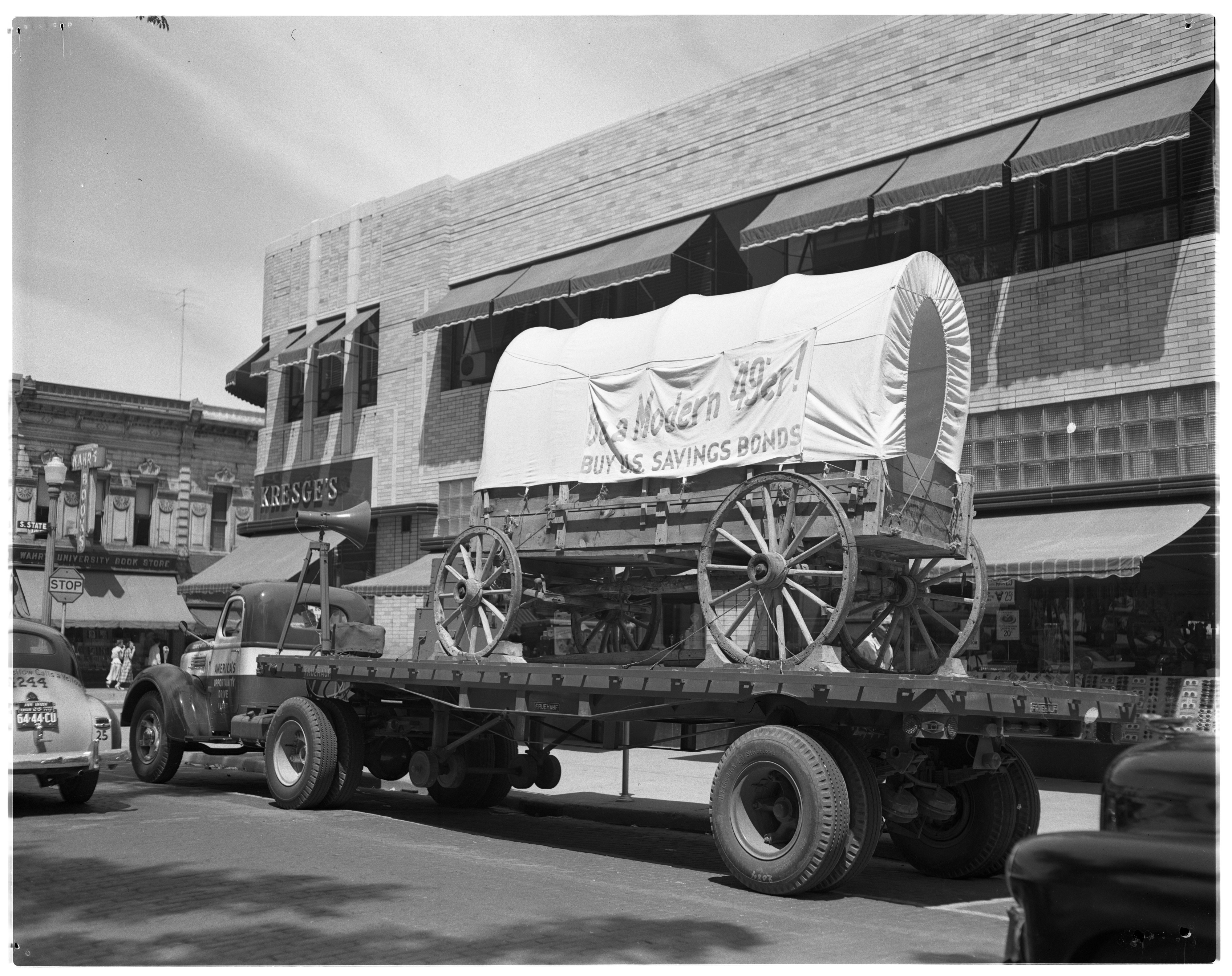 Bond Drive, Covered Wagon, June 1949 image
