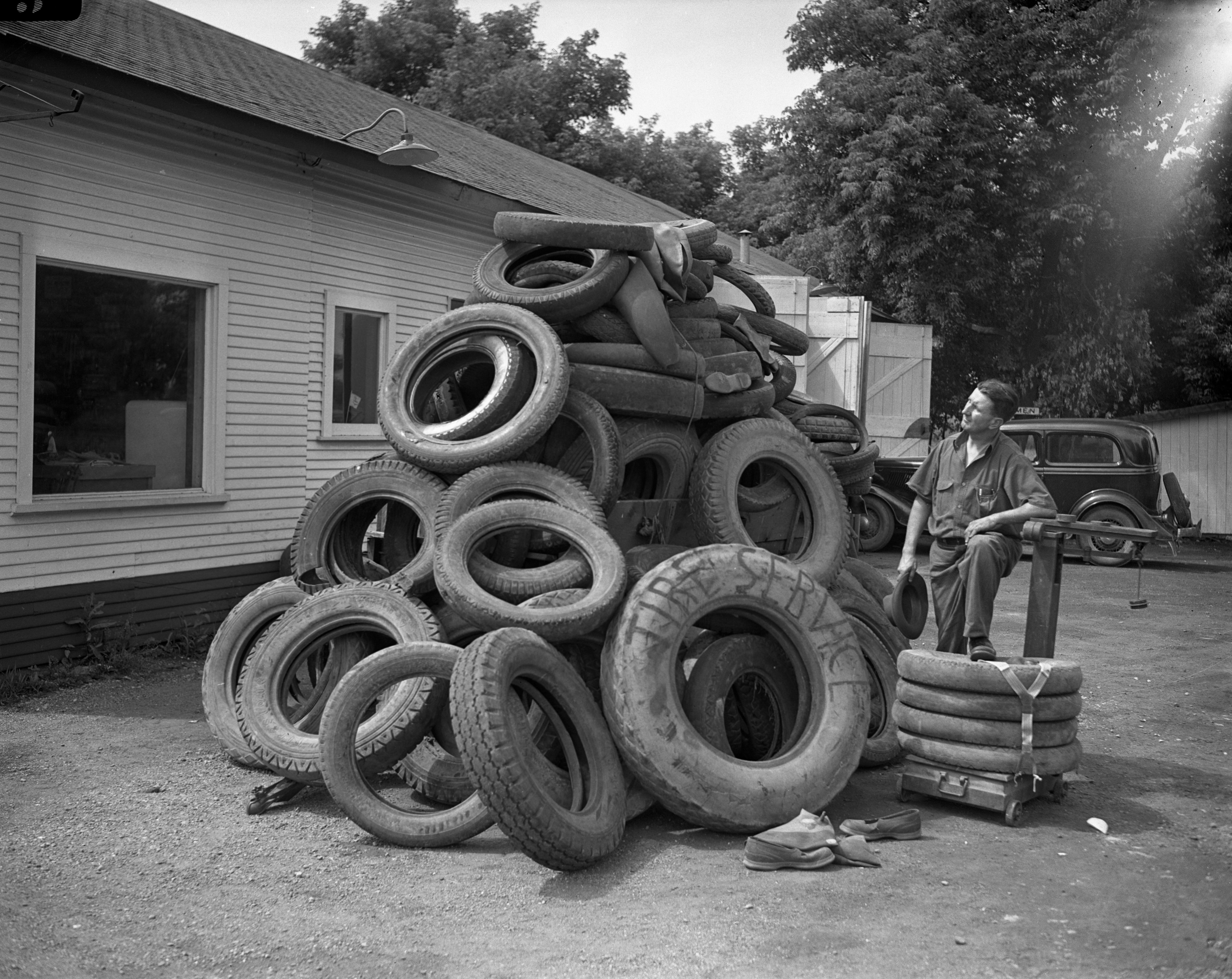 Rubber Salvage, Dixboro, July 1942 image