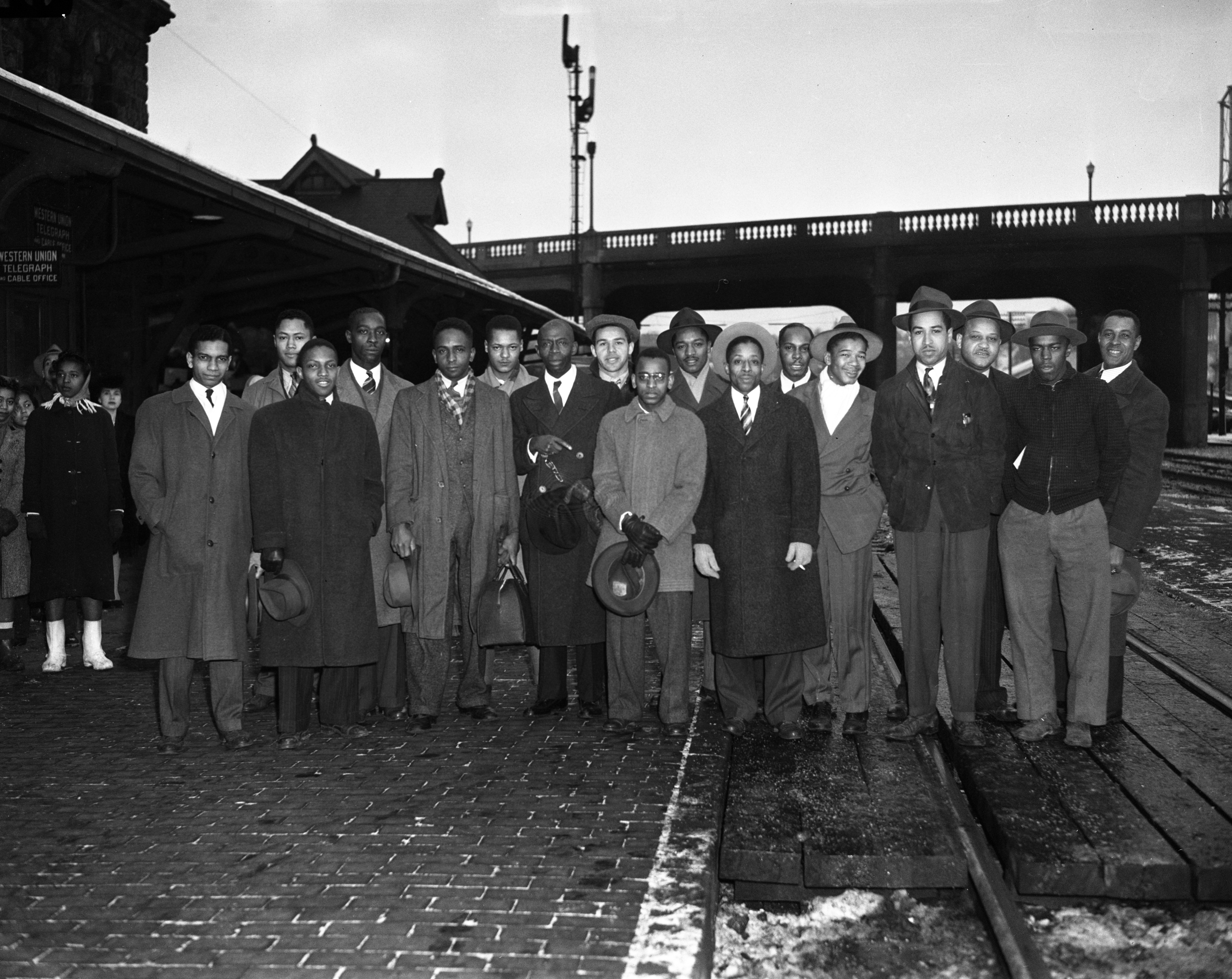Draftees at the Michigan Central Railroad Depot, December 7, 1942 image