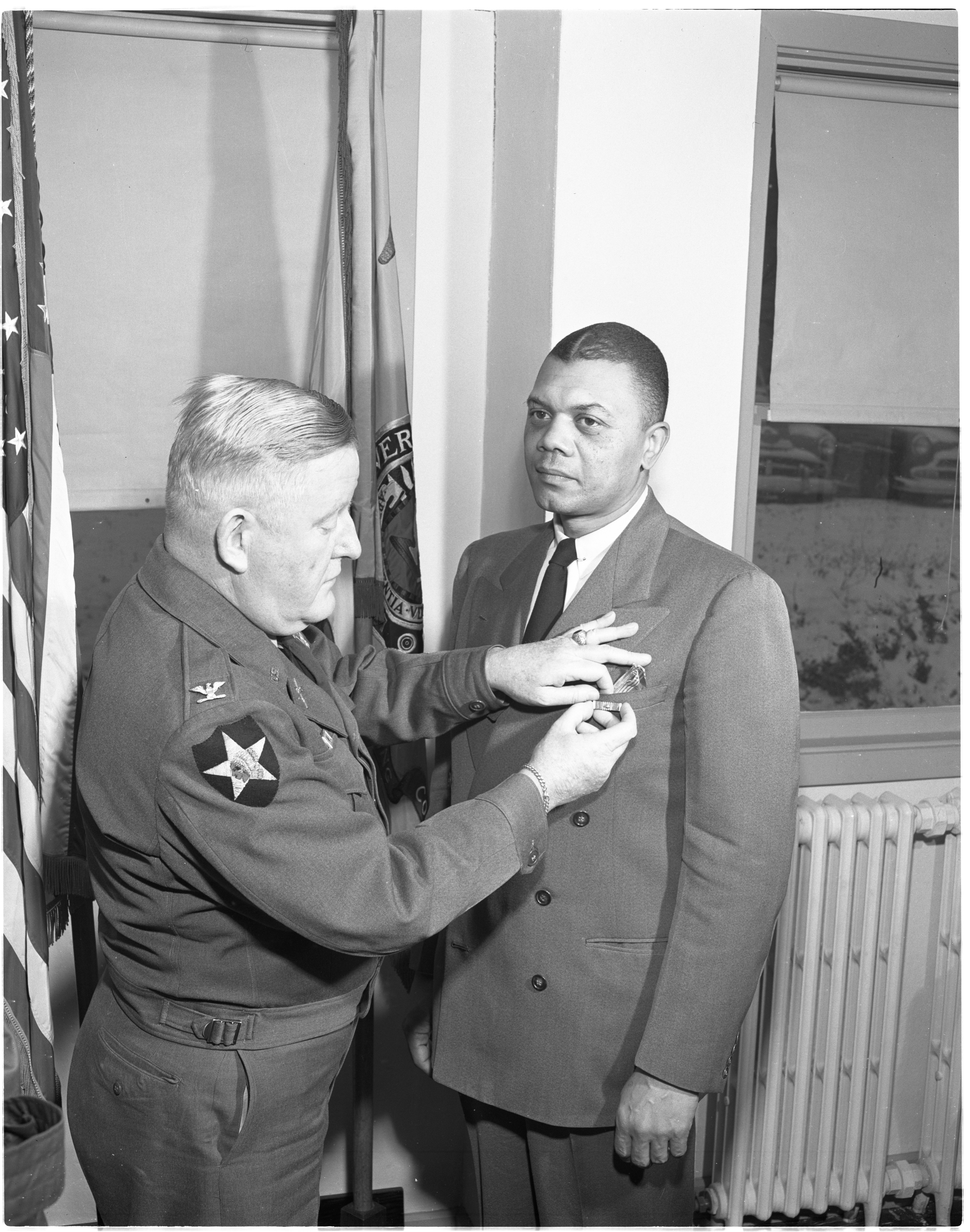 Lt. Col. John F. Harris Is Decorated For His Service In The Korean War, December 1951 image