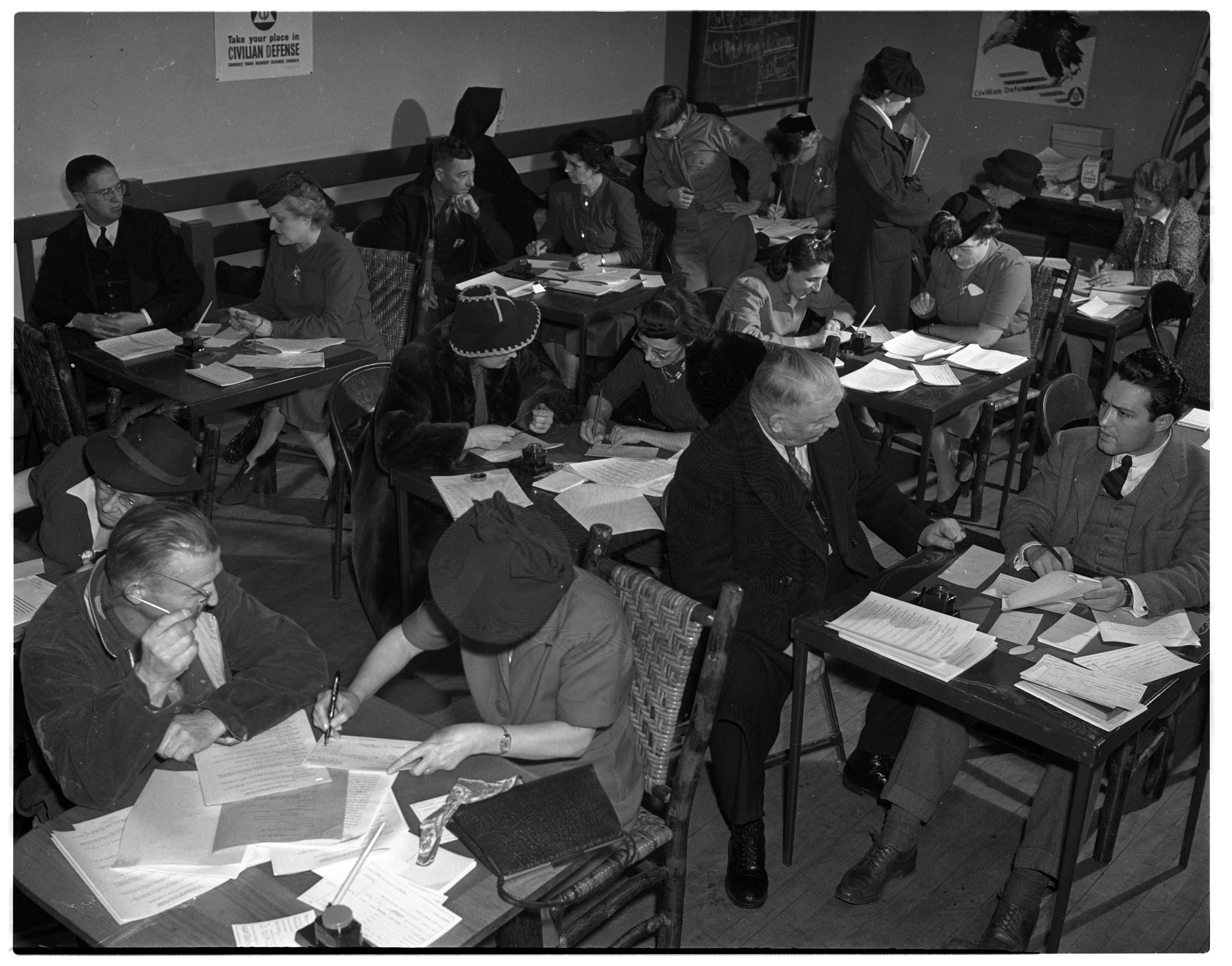 Civilian Defense Registration at the Armory, January 1942 image