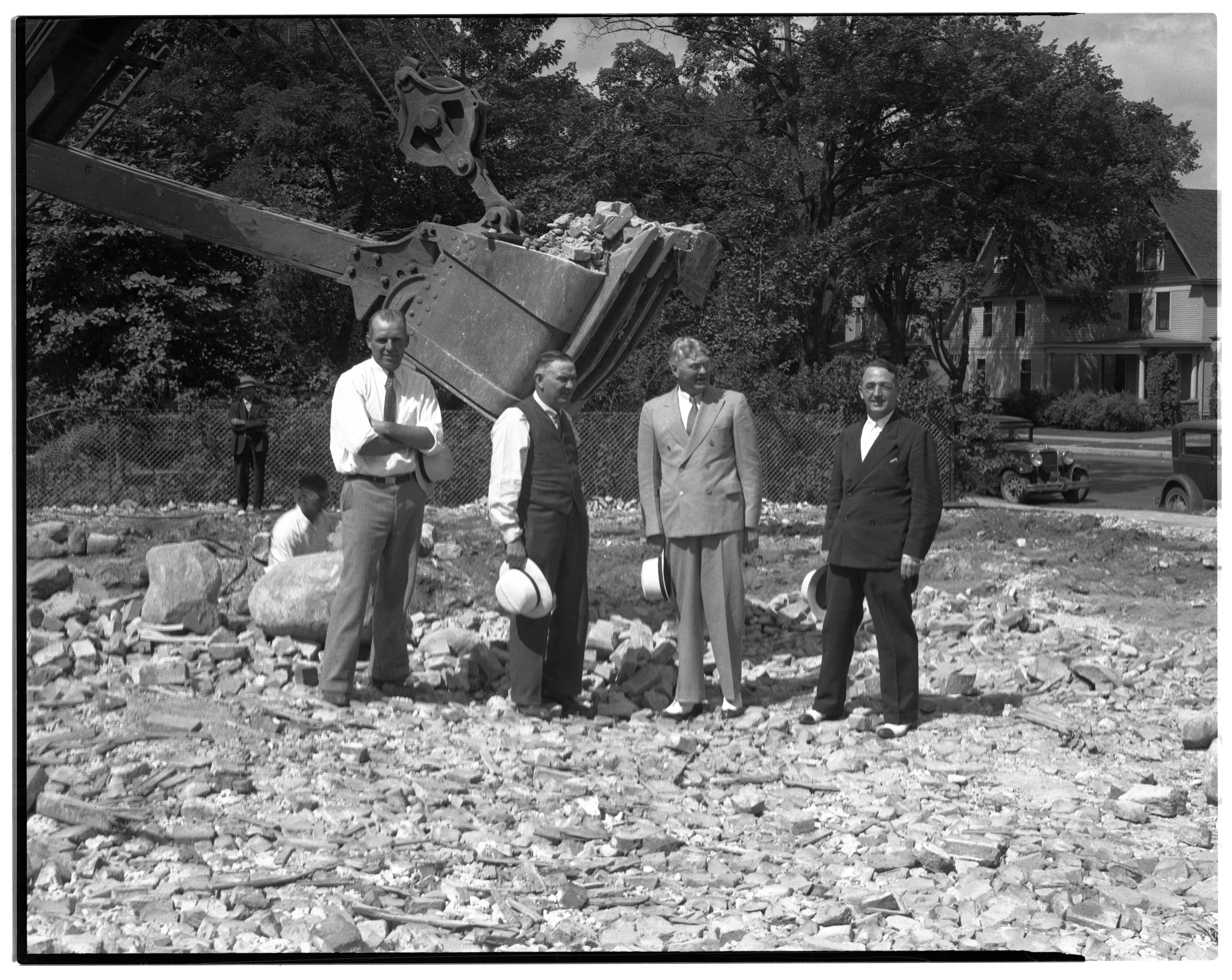 First Shovelful, Excavation of new Ann Arbor News Building, August 28, 1935 image