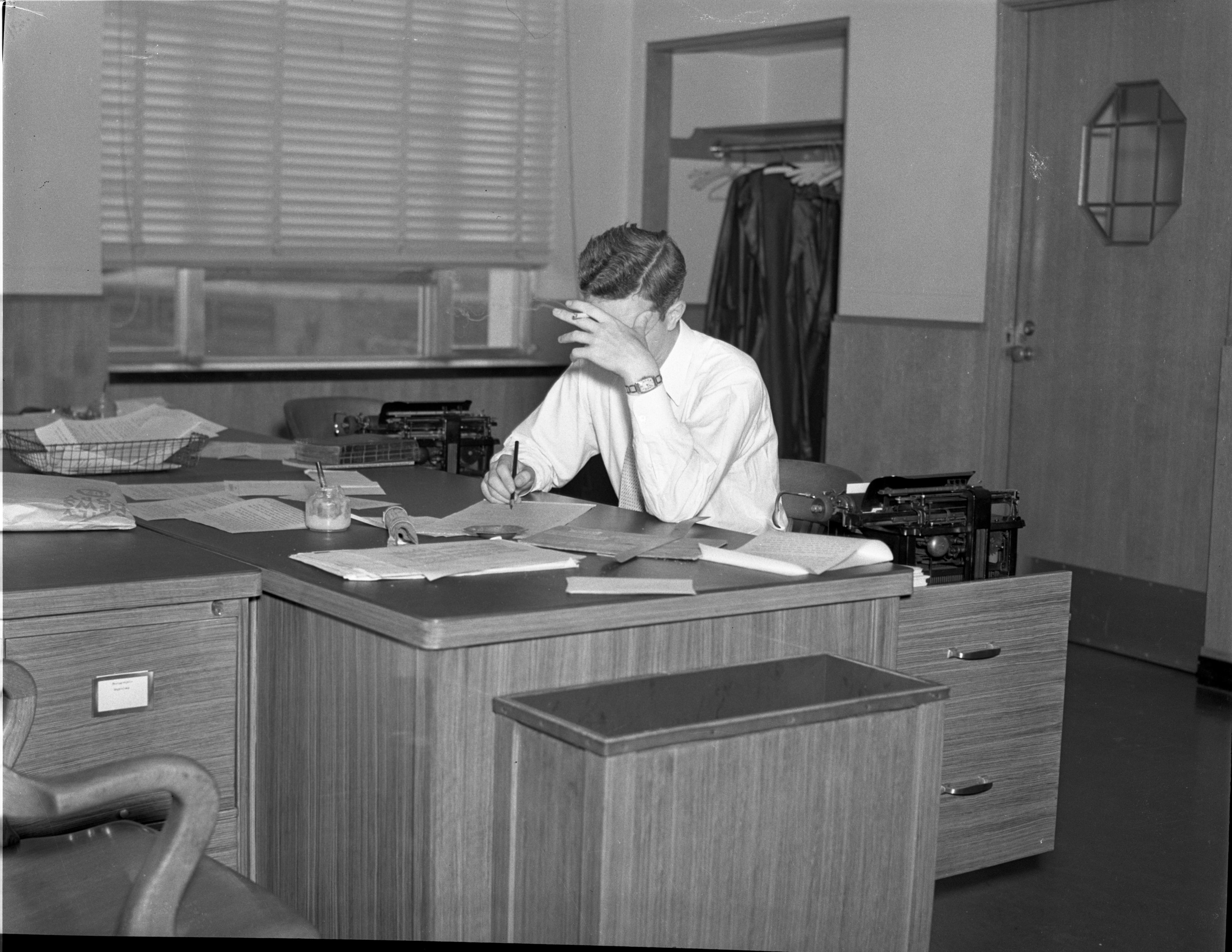 Working at the Ann Arbor News, 1937 image