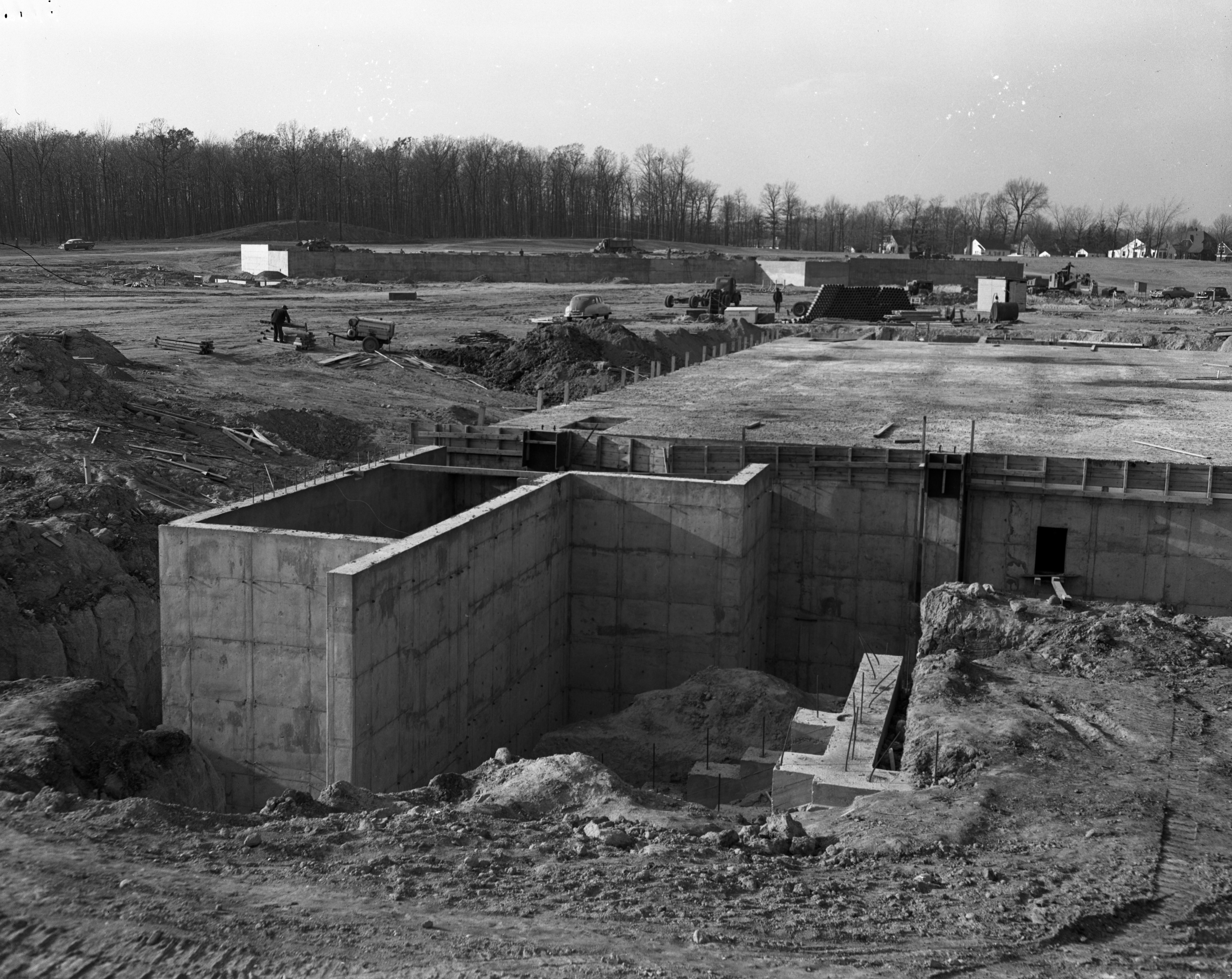 Constructing Ann Arbor High School's New Building, November 1953 image