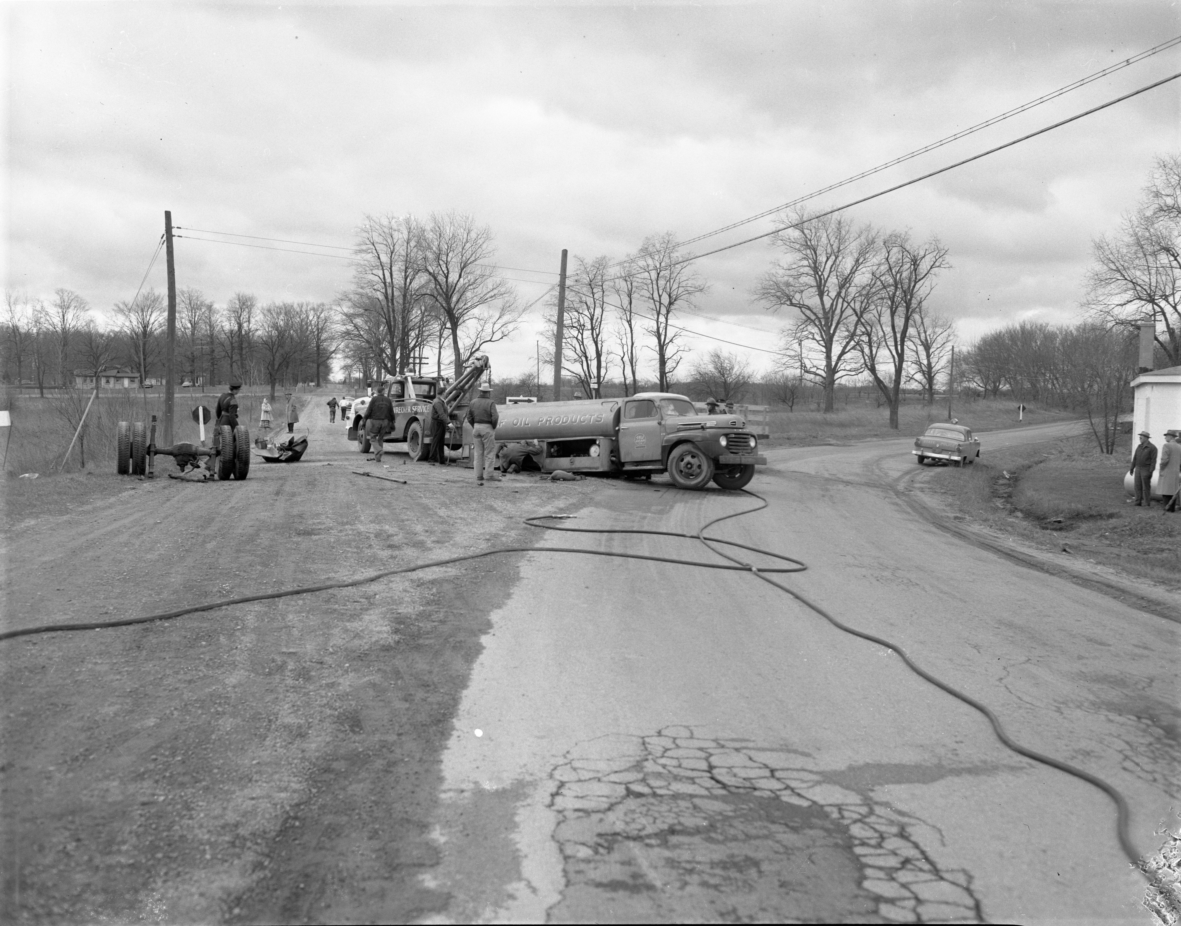 Fatal Accident Scene On Stoney Creek Road, April 1956 image