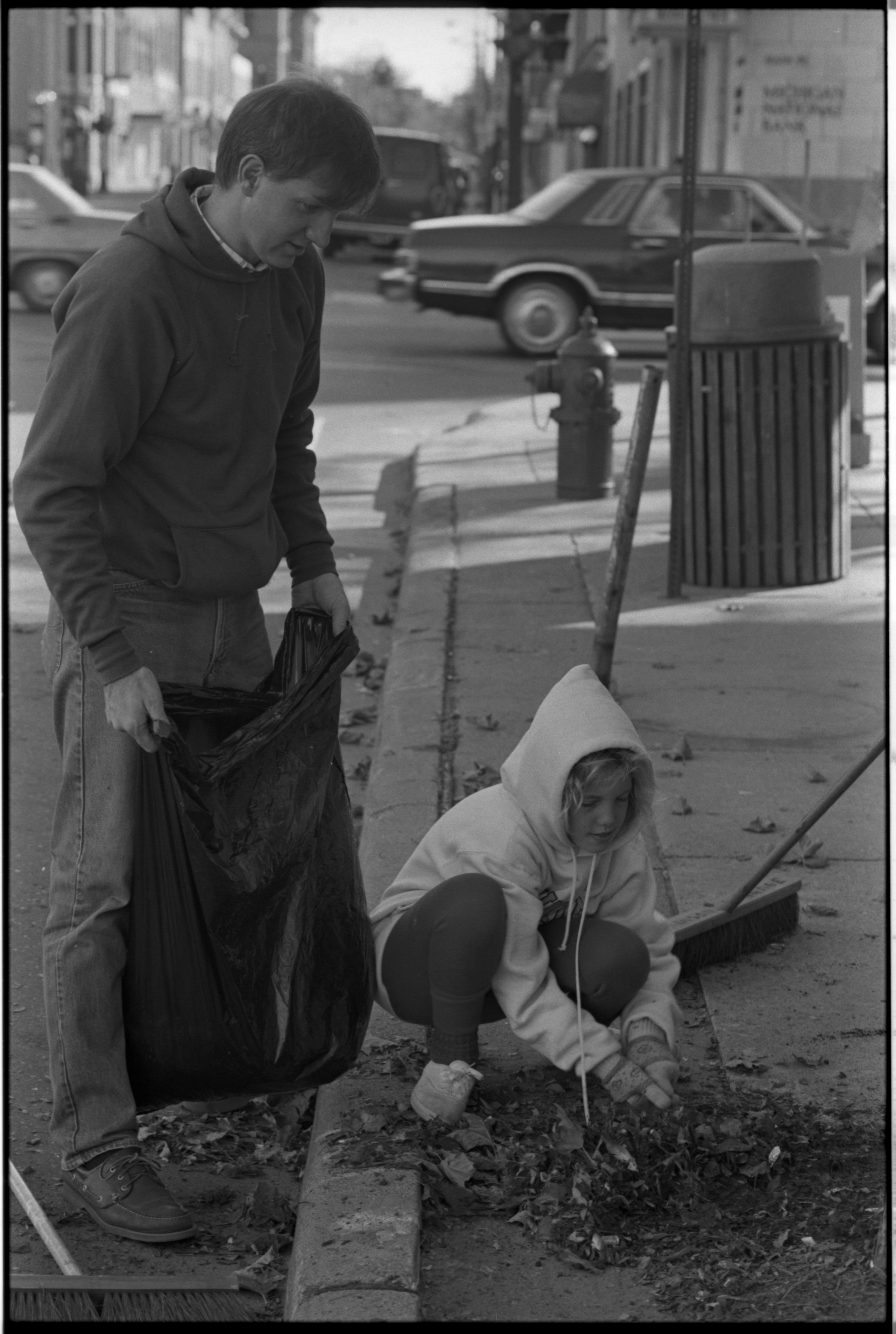 Greg and Molly Mast Assist With Downtown Cleaning, October 1988 image
