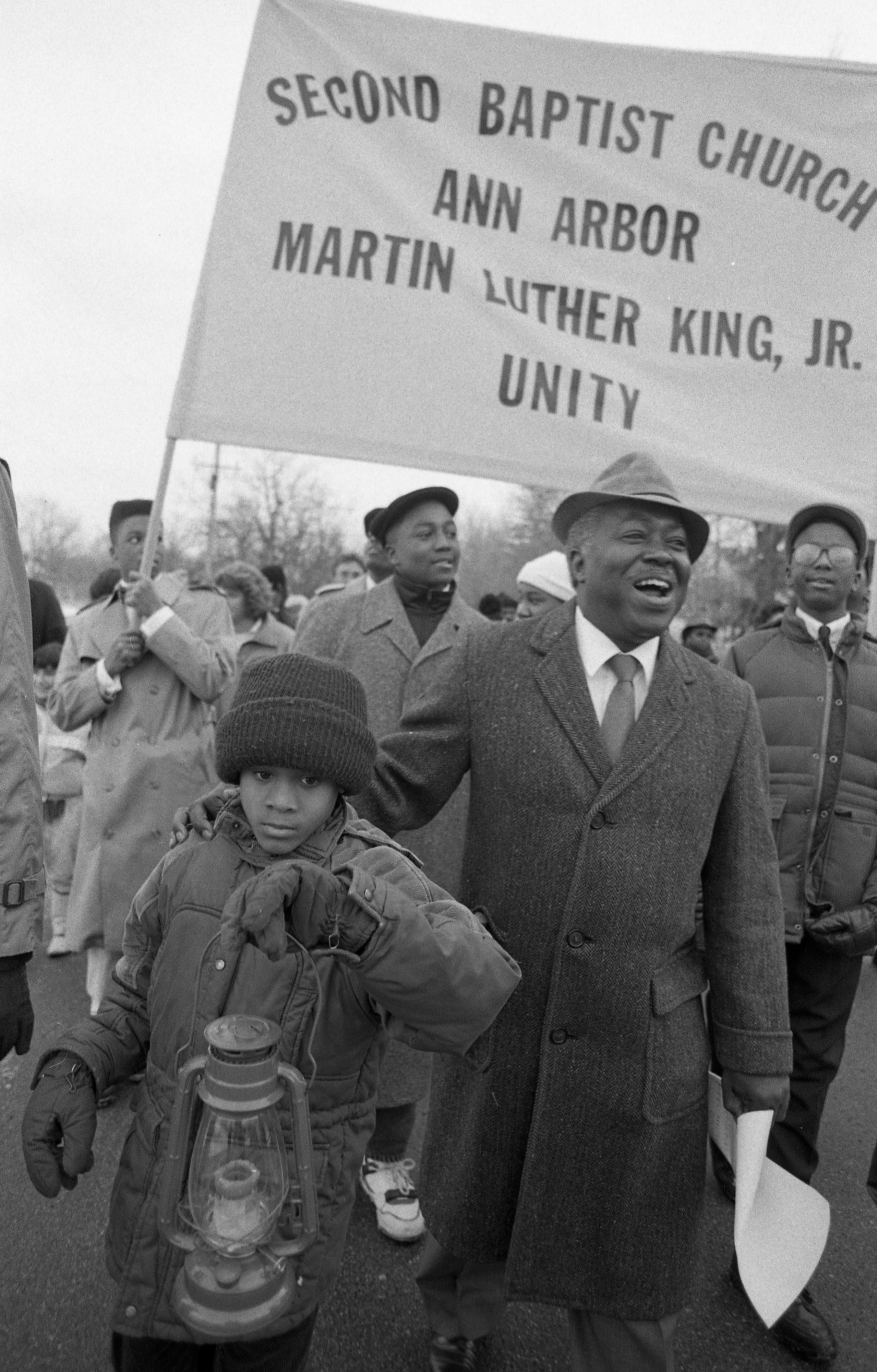 7th Annual Martin Luther King Jr. Unity Marchers, January 1989 image