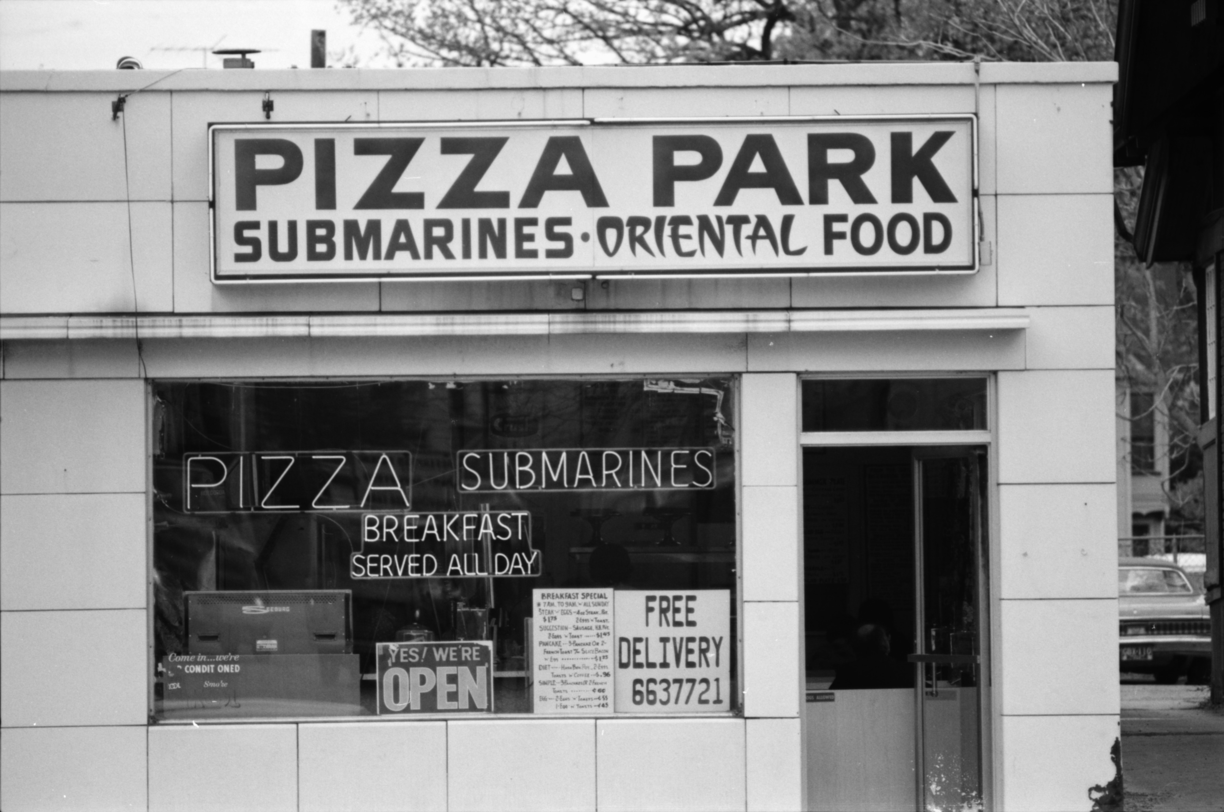 Pizza Park Sign, May 1975 image