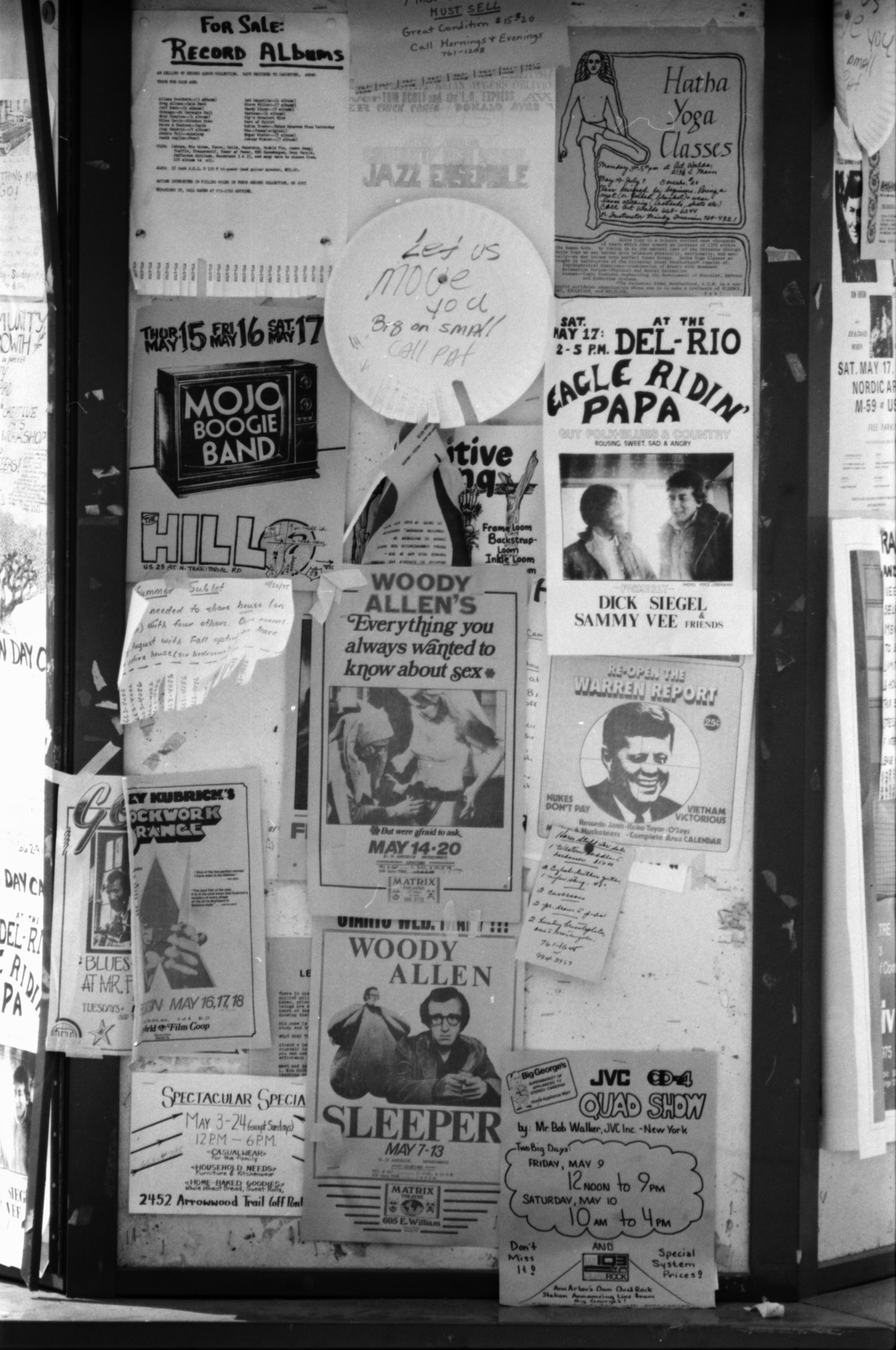 Posters in Window, May 1975 image