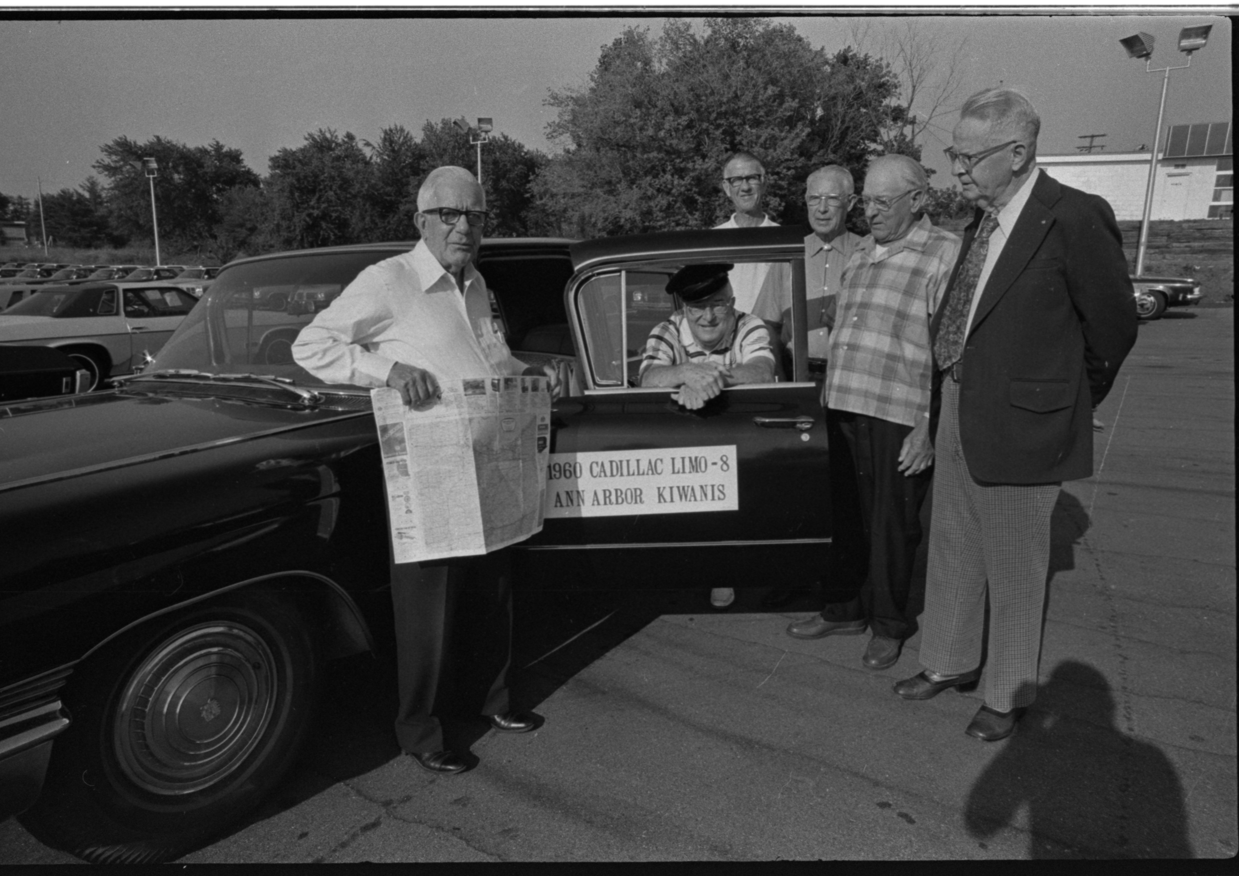 Kiwanis Club of Ann Arbor Members With Cadillac 'Limo,' August 1975 image