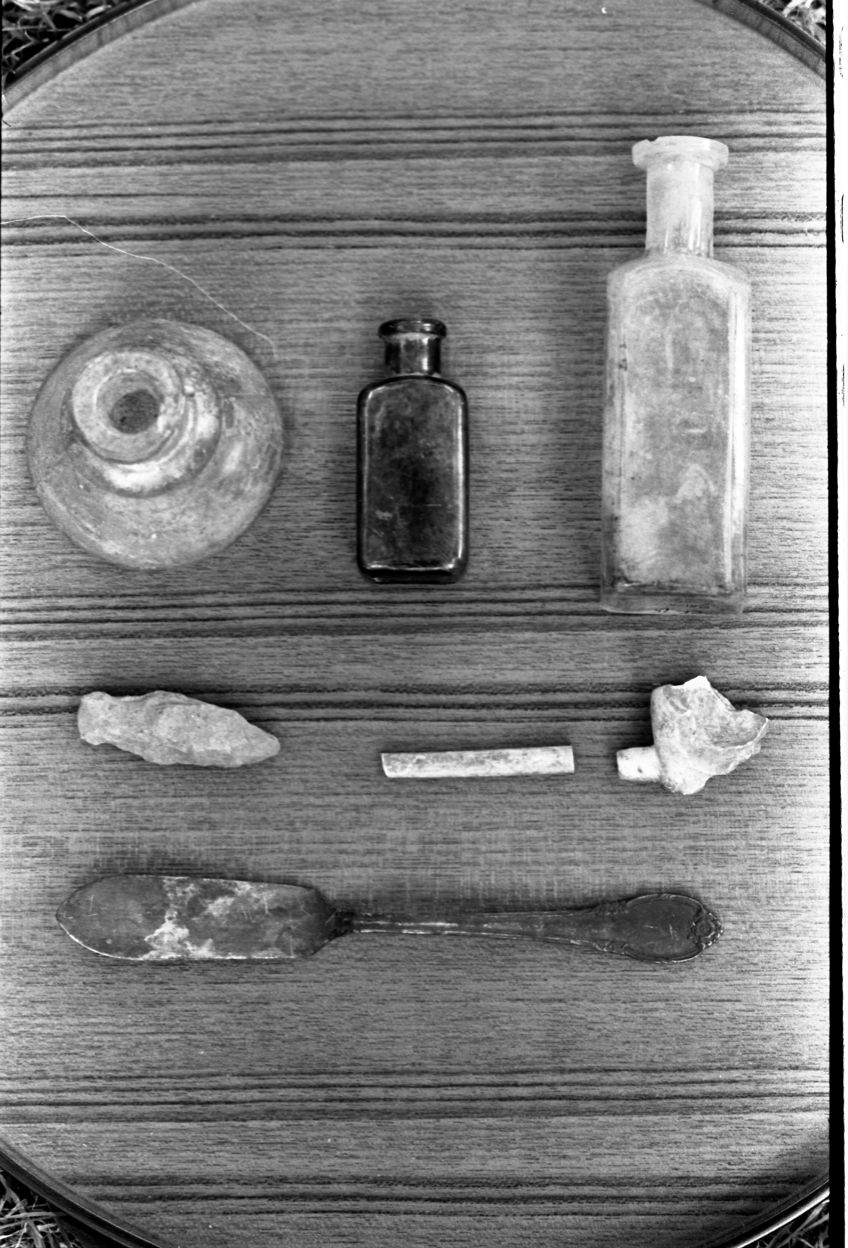 Artifacts Found At An Excavation Site On Cobblestone Farms, August 1, 1975 image