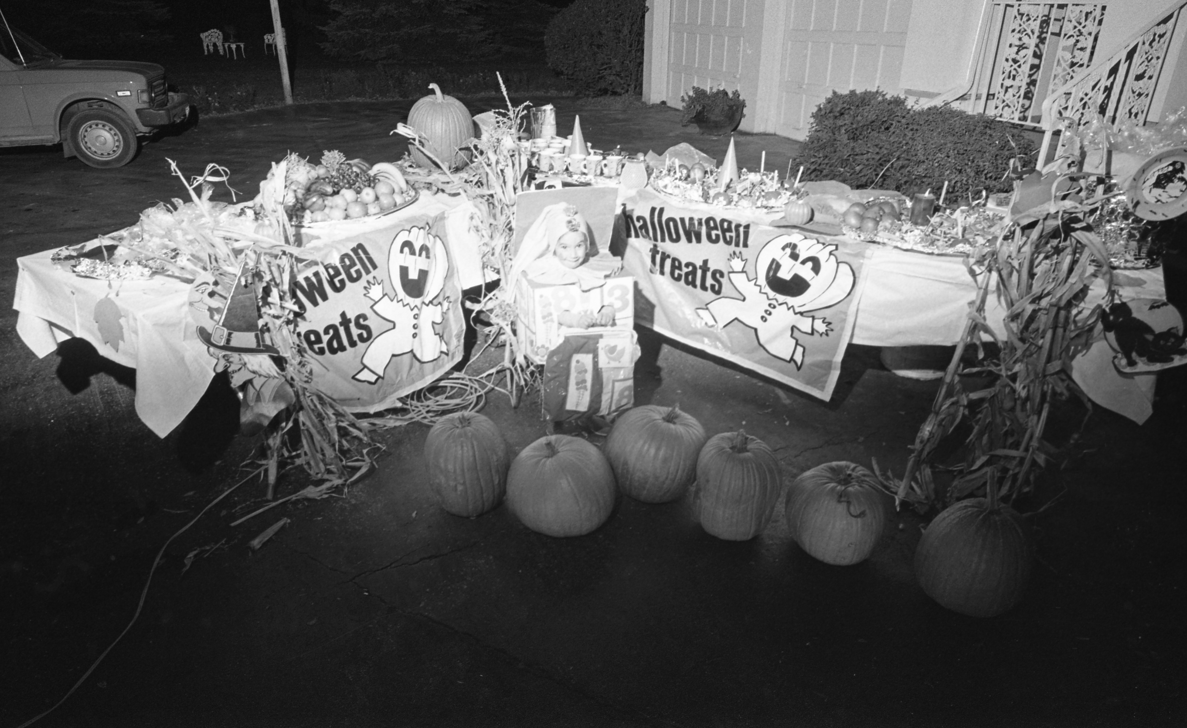 Halloween Treats Display At The Home Of Mr. & Mrs. Charles E. Miller - 4158 Washtenaw, October 1975 image