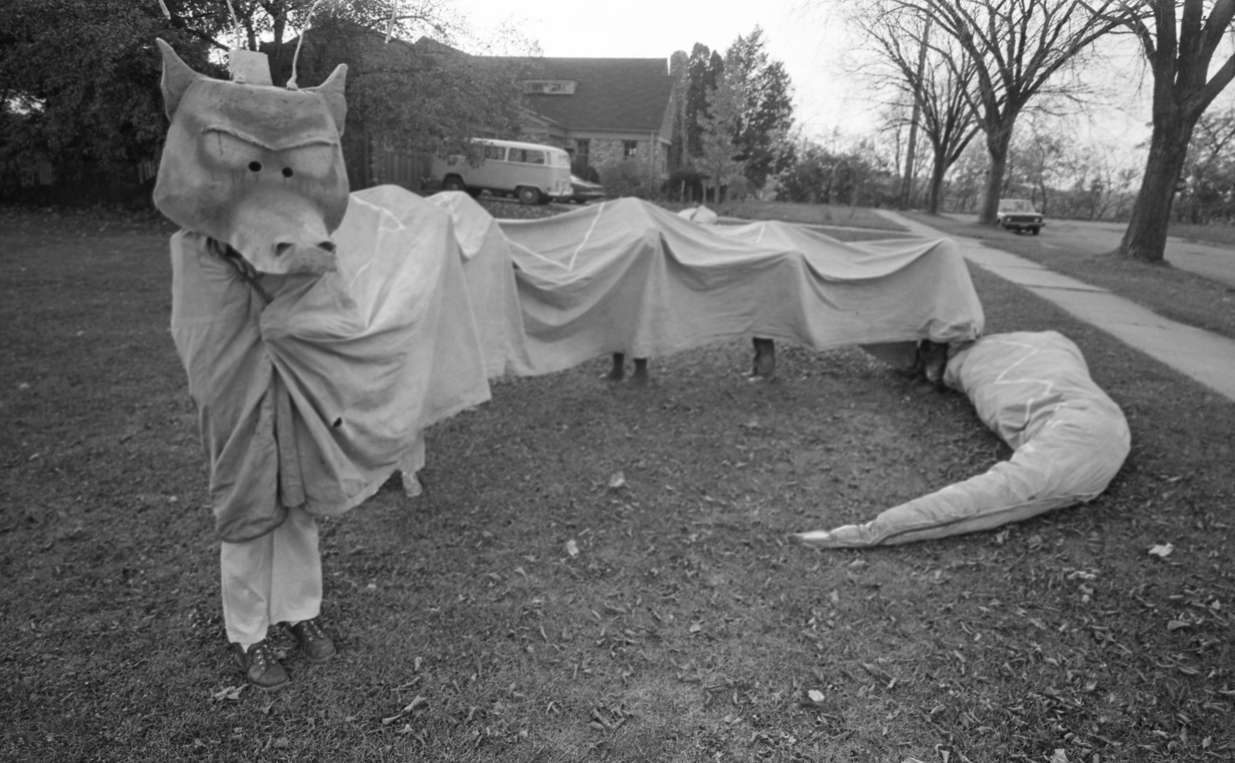 Six People In One Halloween Dragon Costume, October 1975 image