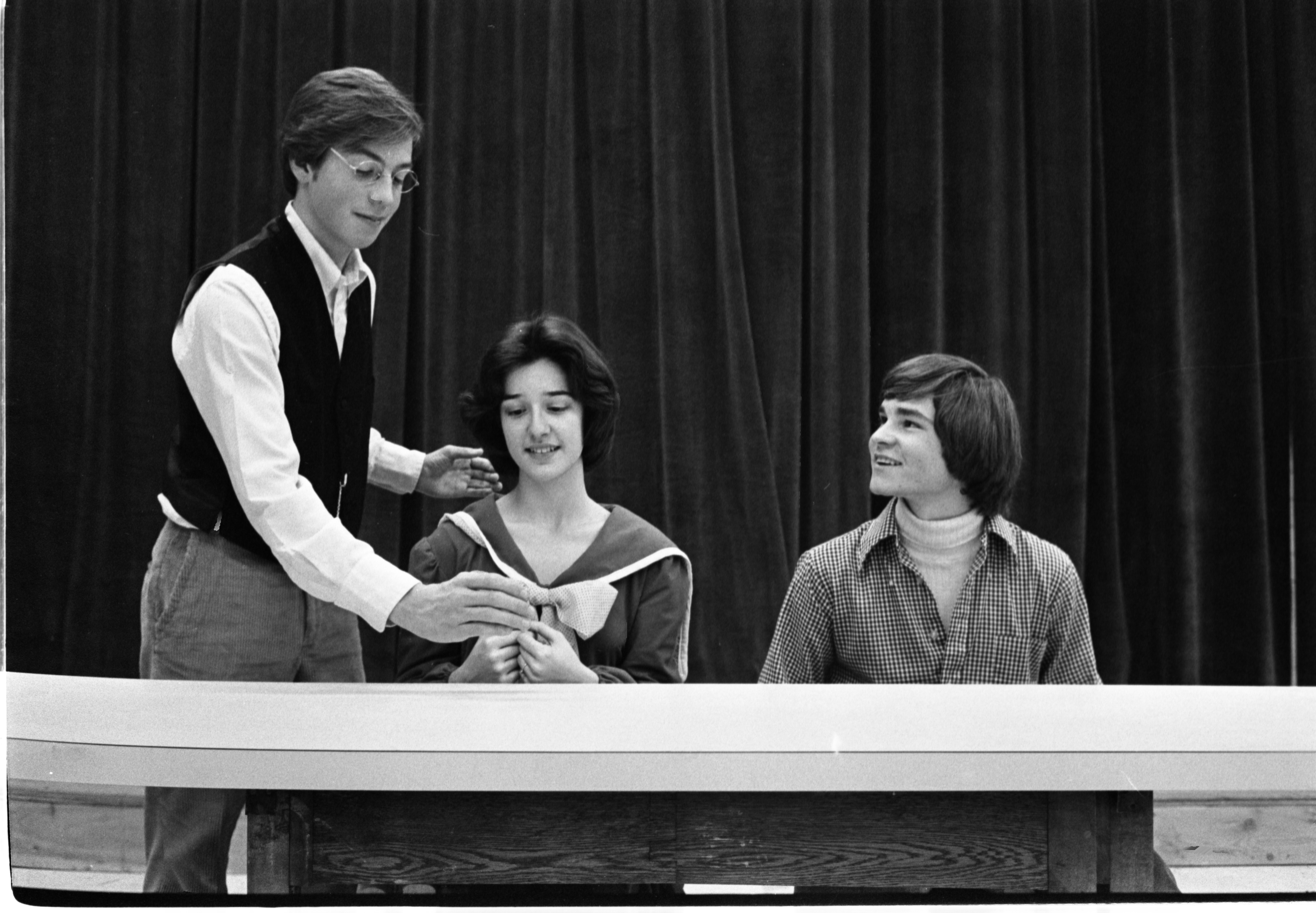 "Greenhills Students Rehearse The Play, ""Our Town"", November 21, 1975 image"