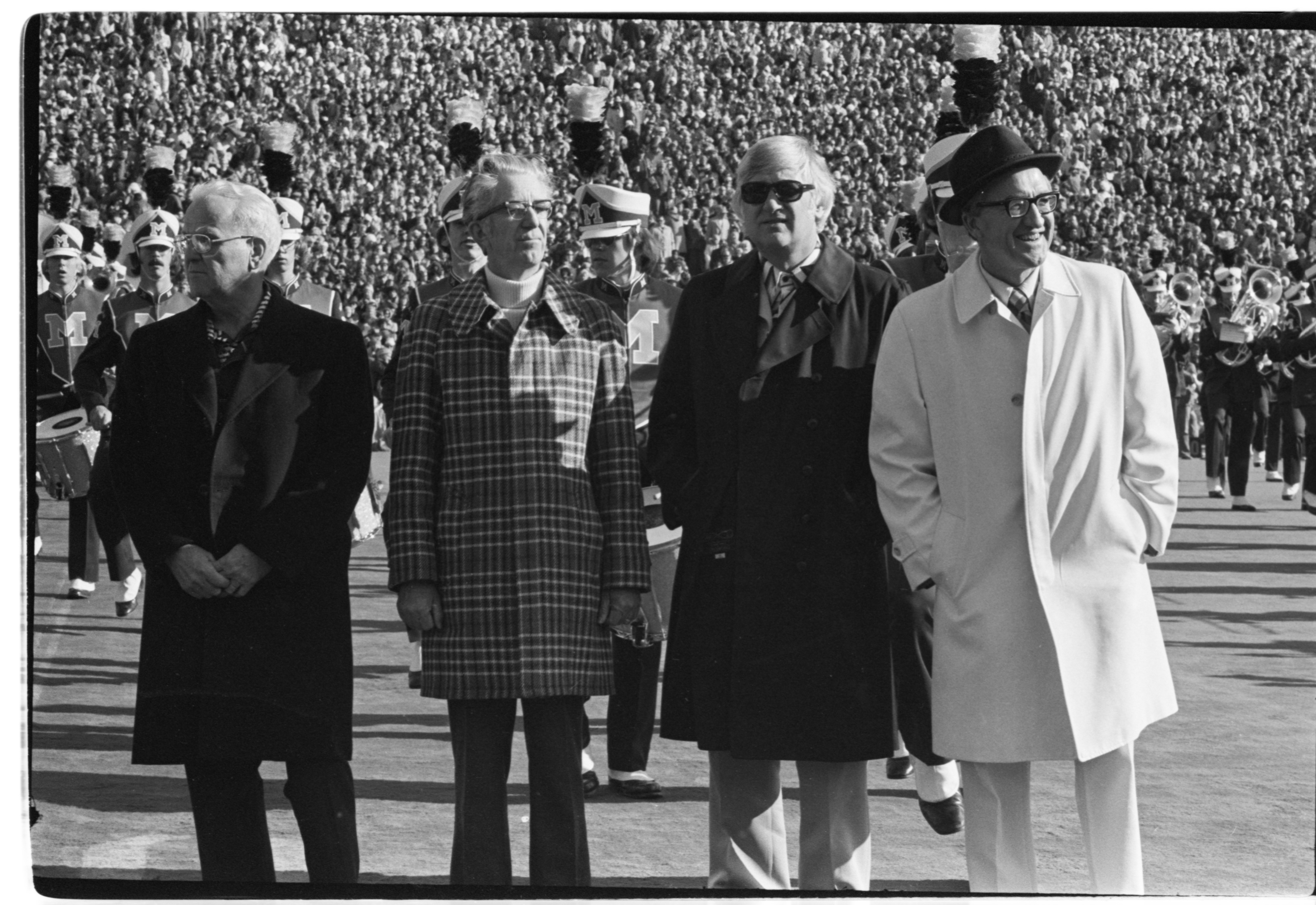 Bob Ufer Inducted Into Media Hall of Fame at Halftime of Michigan - Ohio State Game, November 1975 image