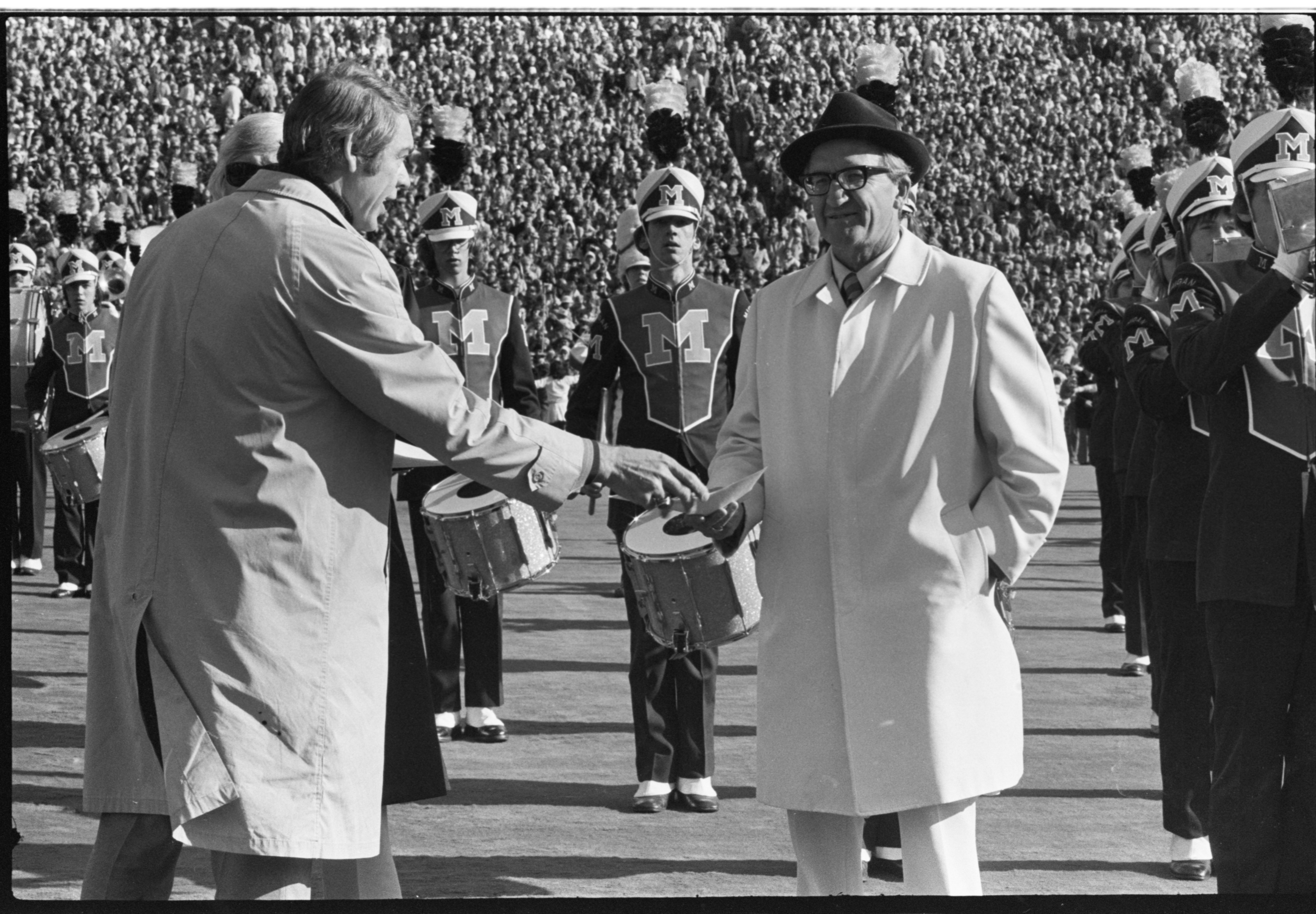 Bob Ufer Honored at Halftime of Michigan - Ohio State Game, November 1975 image