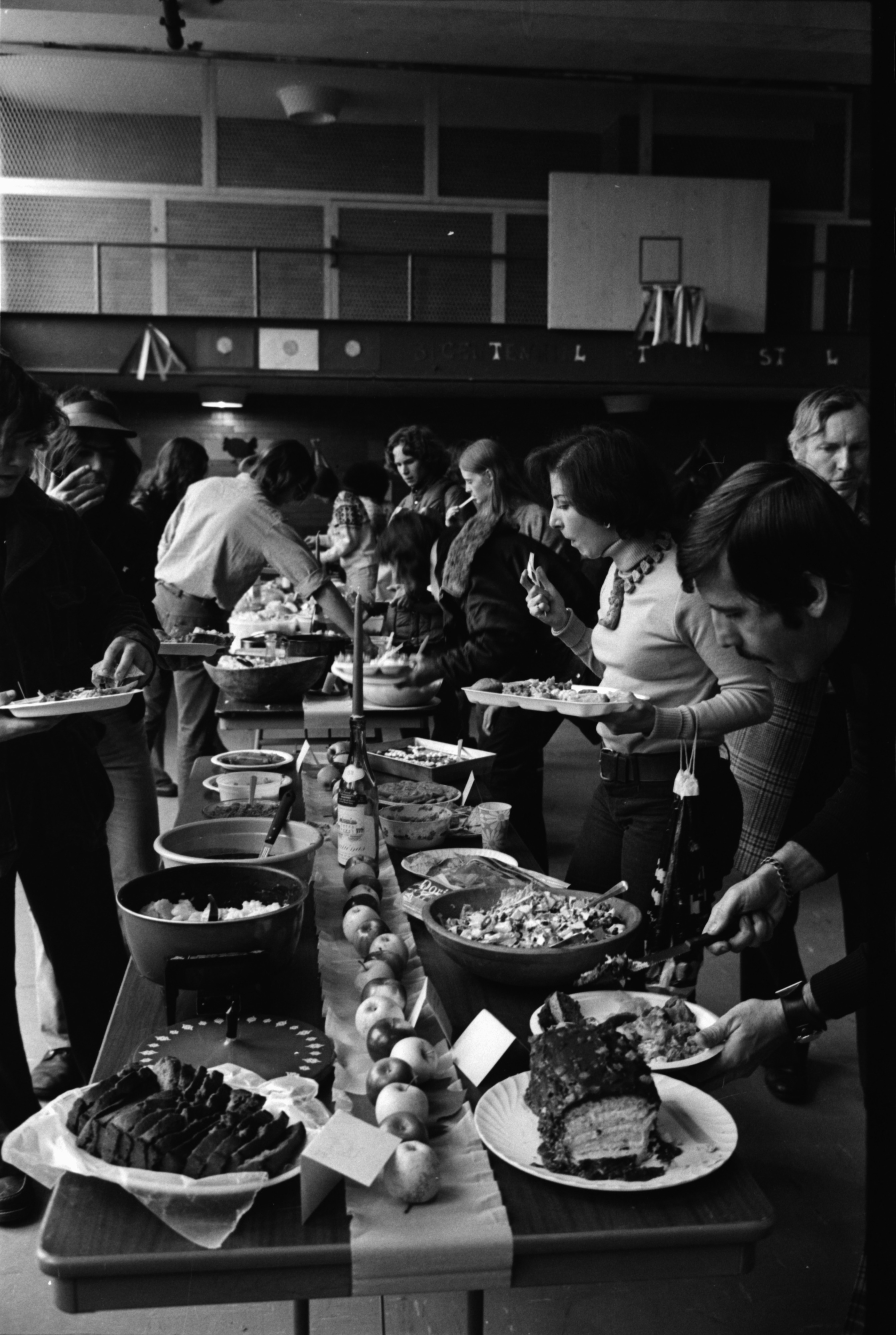 Bicentennial Thanksgiving Celebration at Community High School, November 1975 image