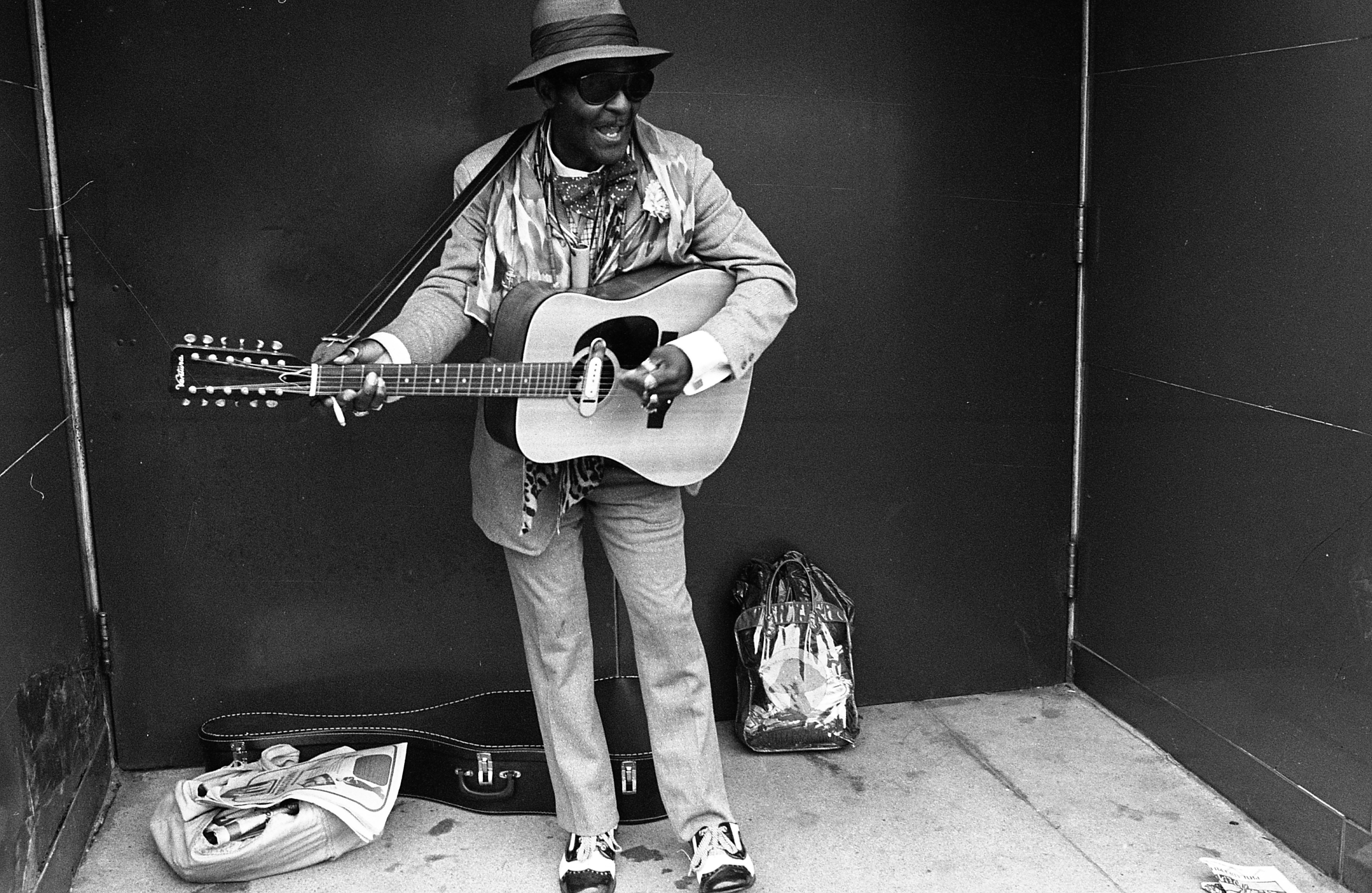 Shakey Jake Woods Performs On The Streets Of Ann Arbor, June 1976 image