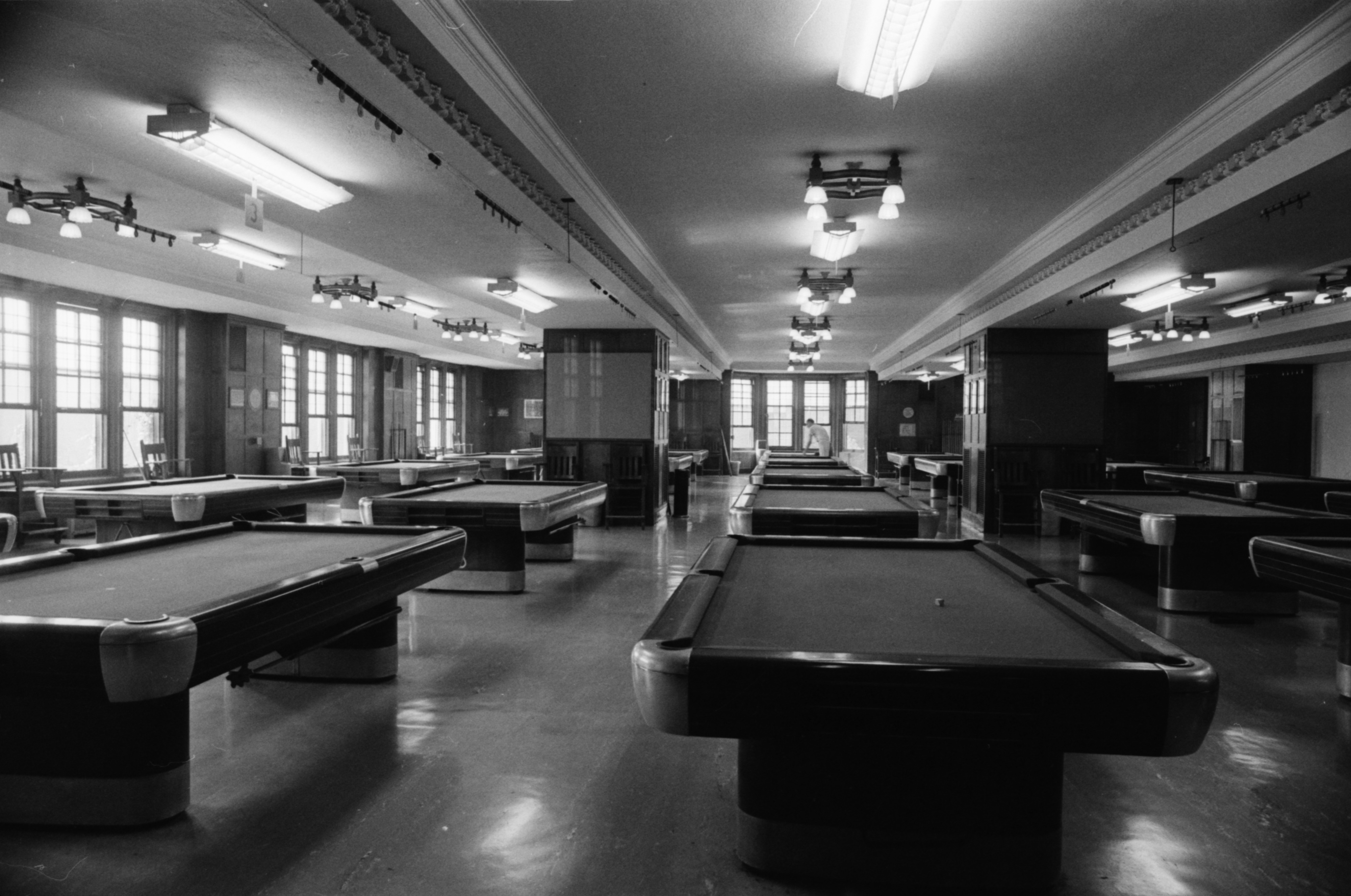 Michigan Union, Interior, Billiards Tables, August 1976 Image