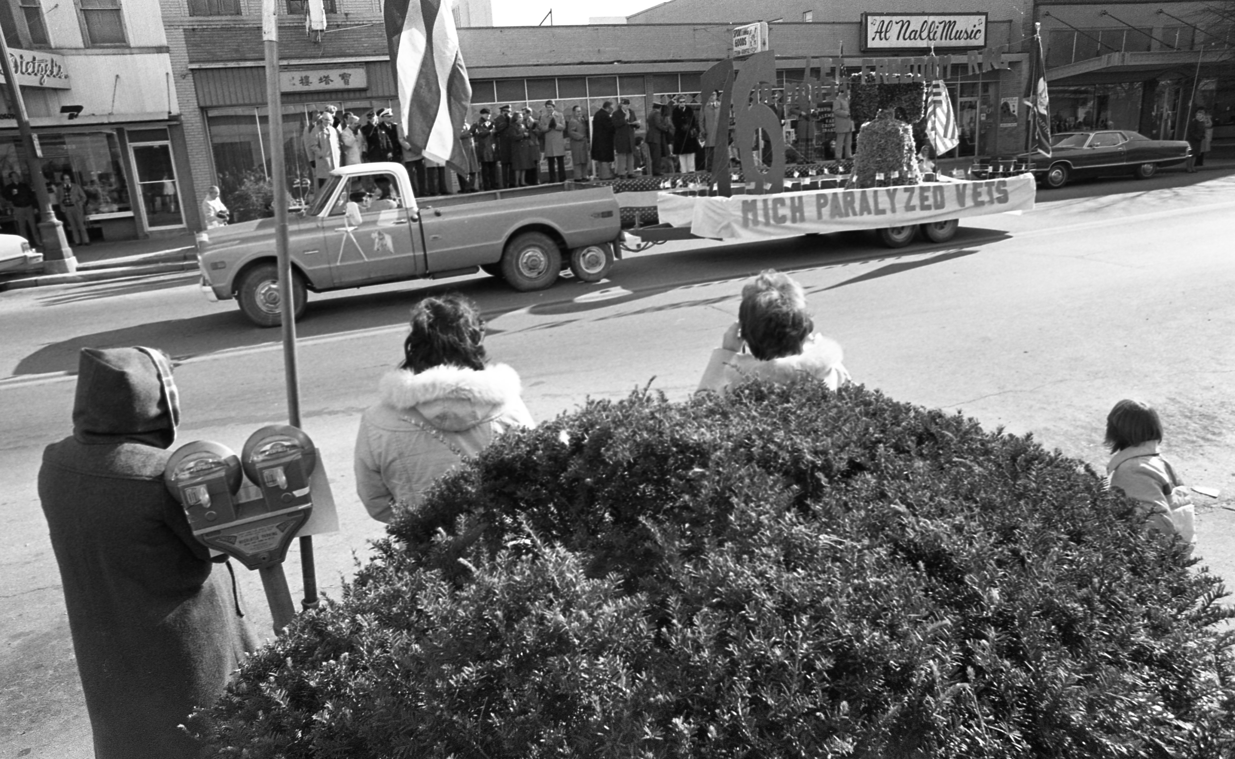 Michigan Paralyzed Vets In The Ann Arbor Veterans Day Parade - November 11, 1976 image
