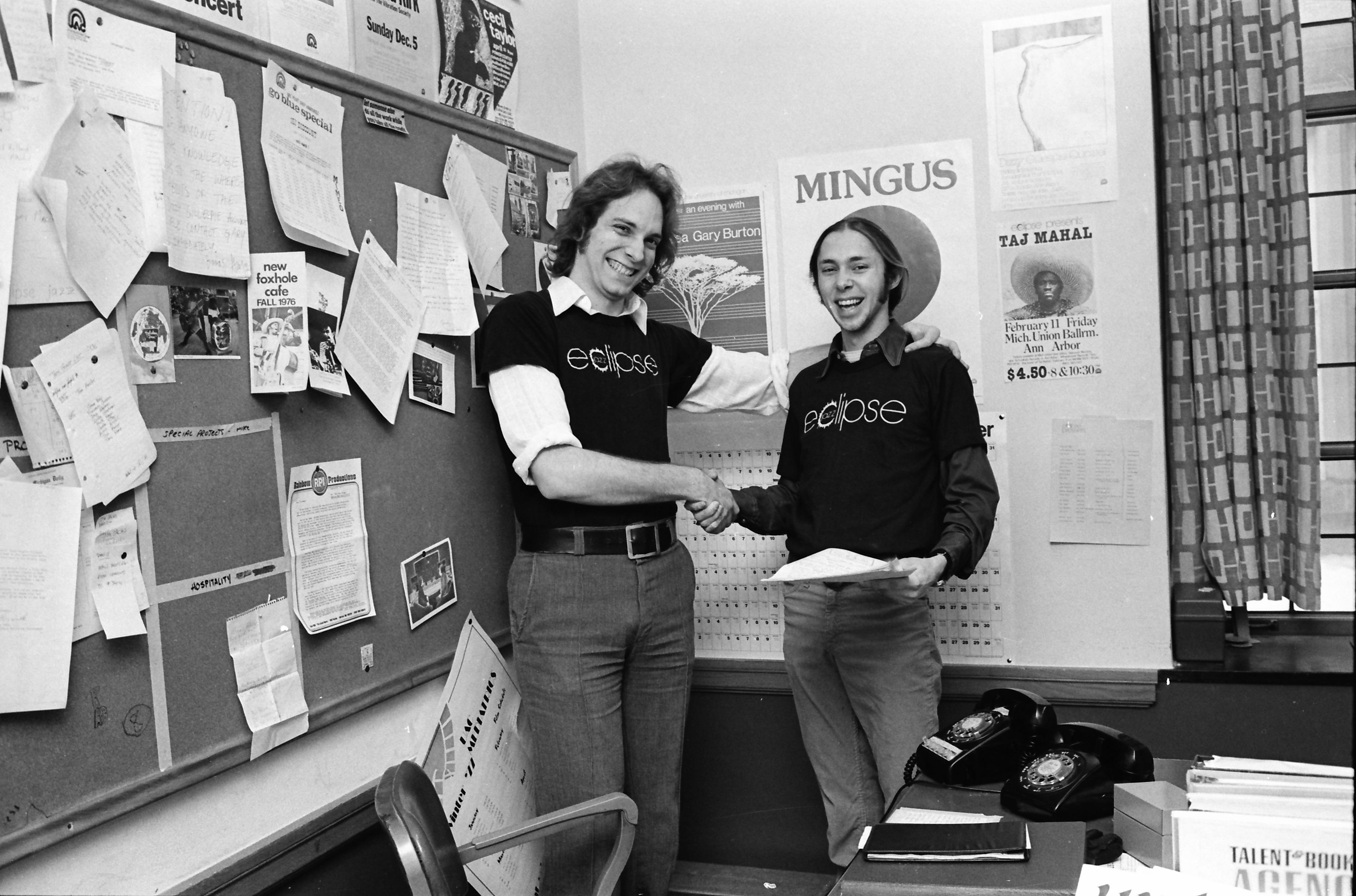 Lee Berry and Mike Grofsorean, February 1977 image