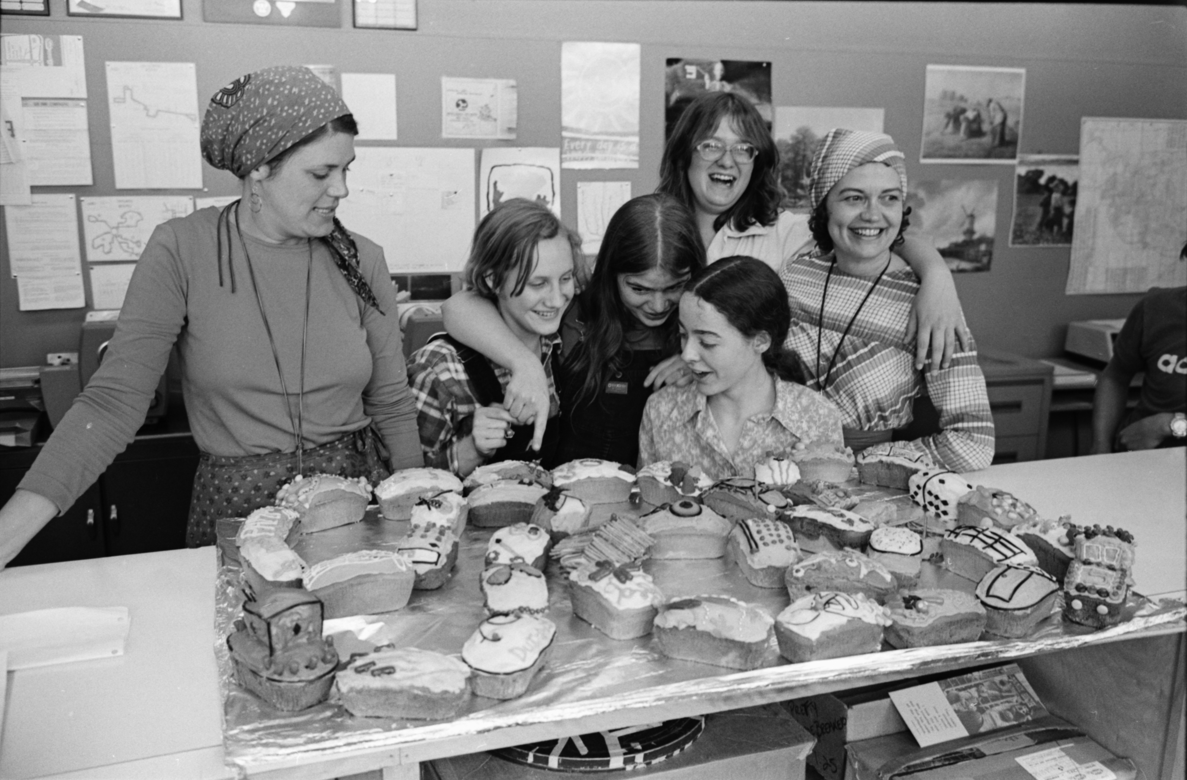 Cake Train At Community High School, May 1977 image