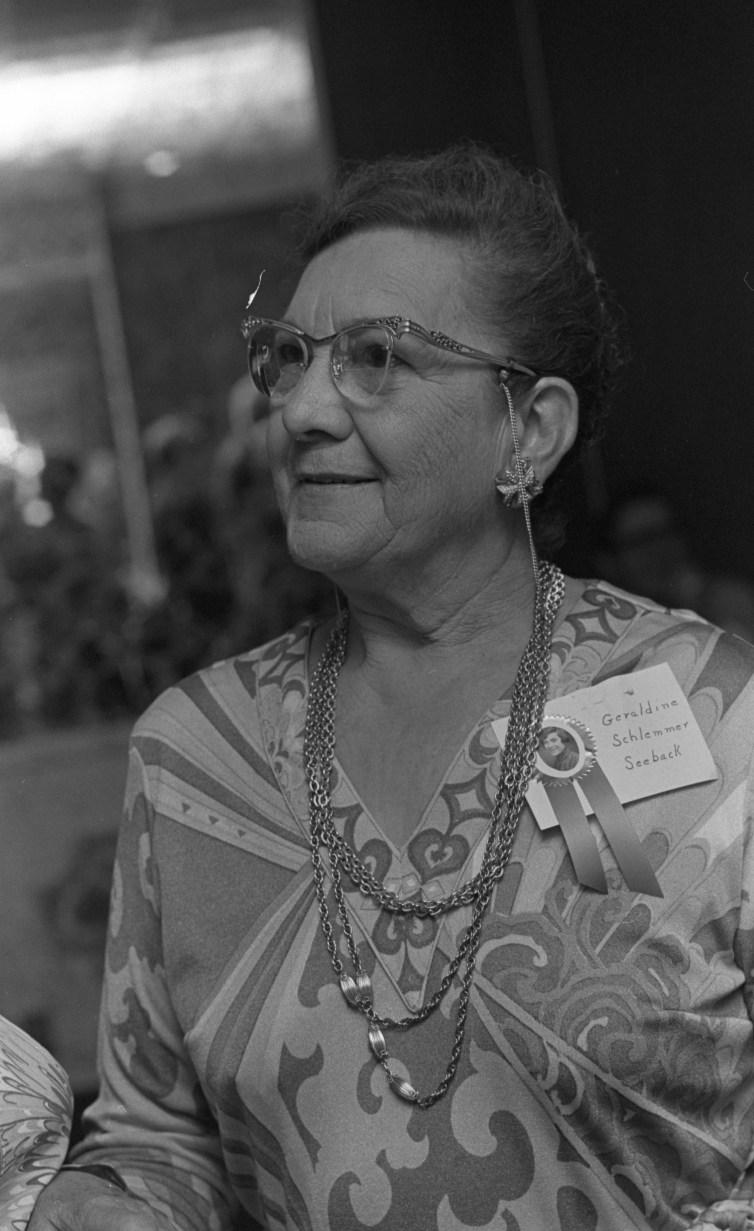 Geraldine Seeback, Co-Coordinator Of The Ann Arbor High School Class of 1927 - 50 Year Reunion, June 1977 image