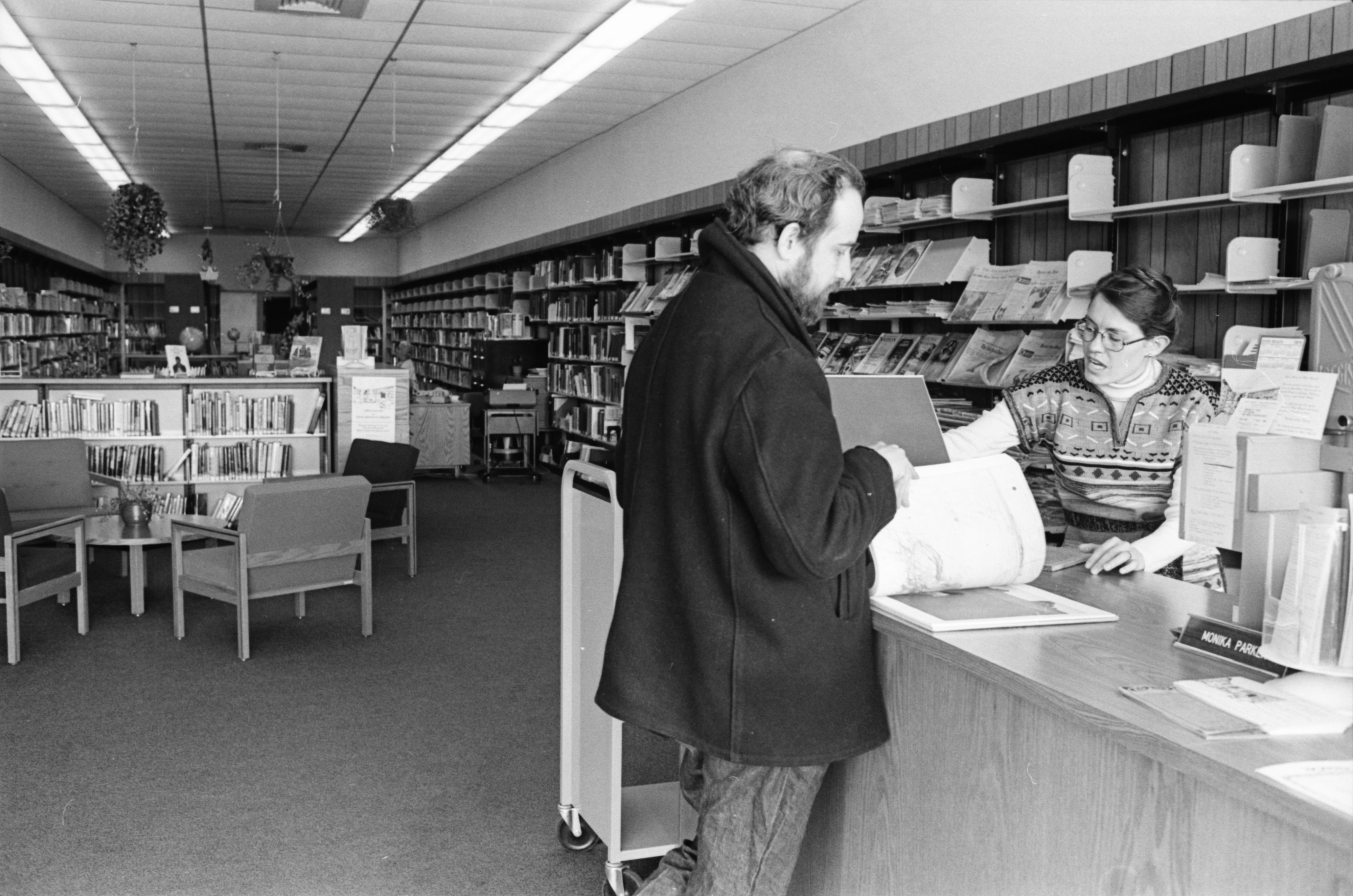 Ann Arbor Public Library's New West Branch Opens at Maple Village Shopping Center, February 1978 image
