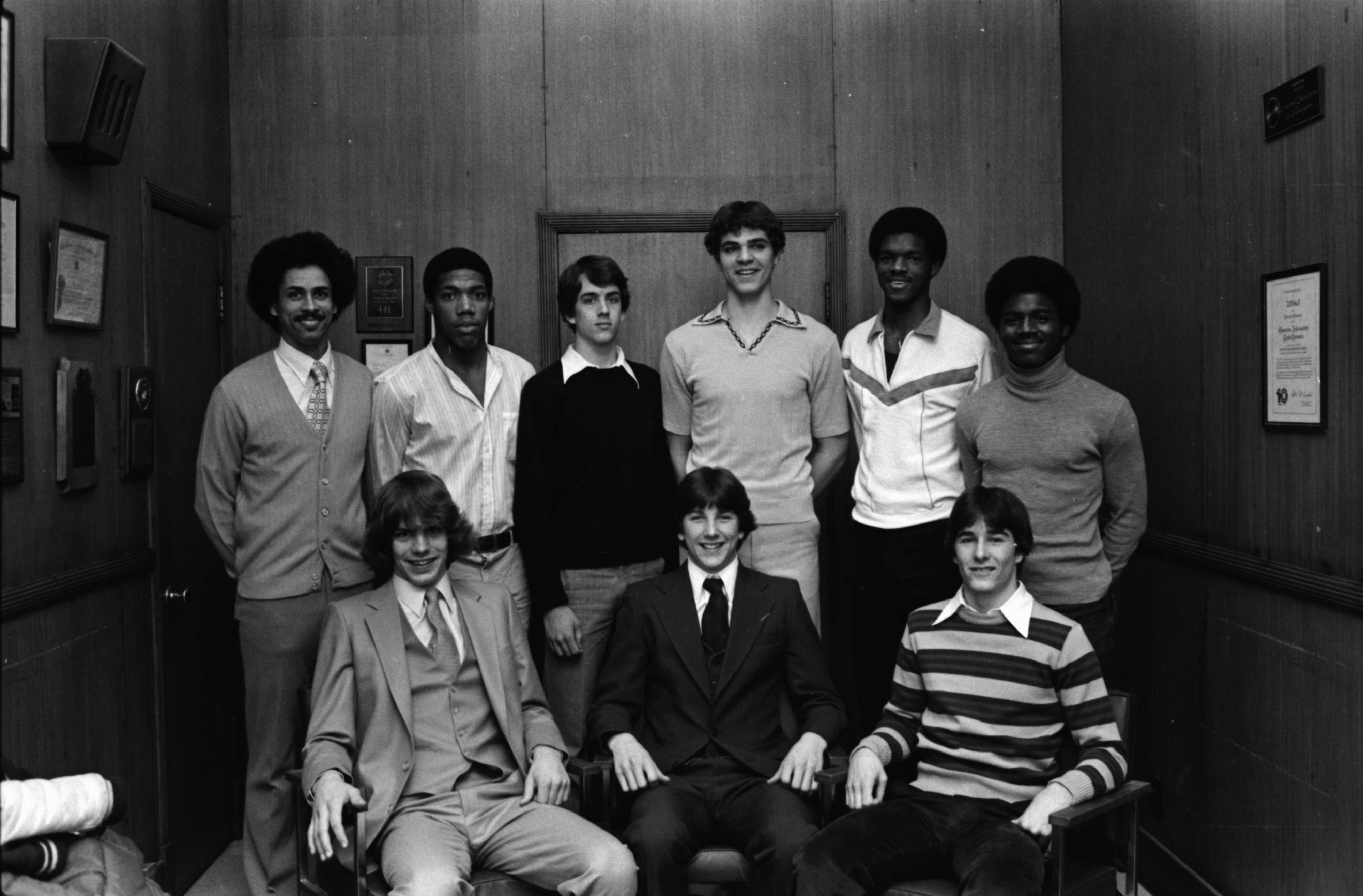 Coach Harold Simons and the All-County Basketball Team, March 1980 image