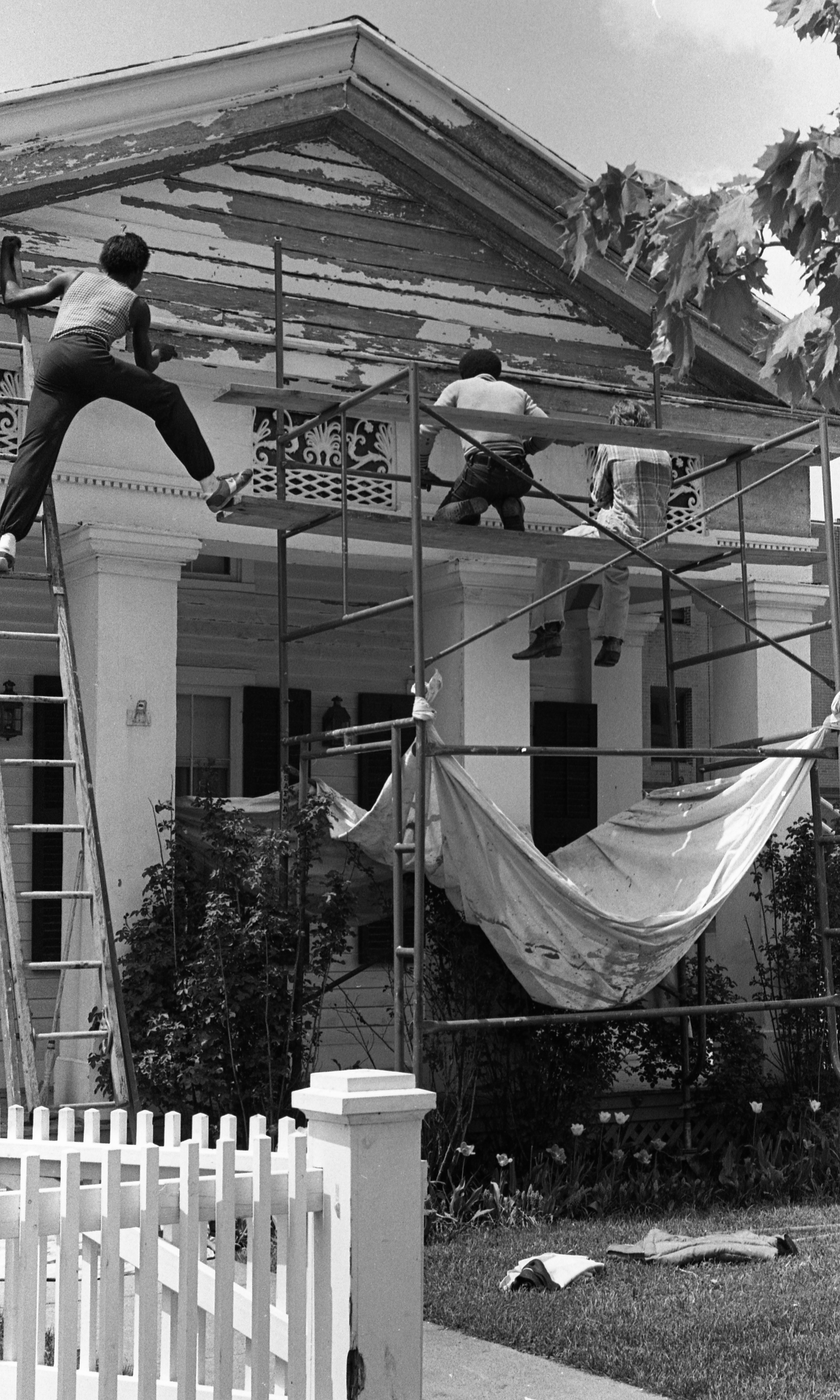Historic Kempf House Museum Restoration, May 1980 image