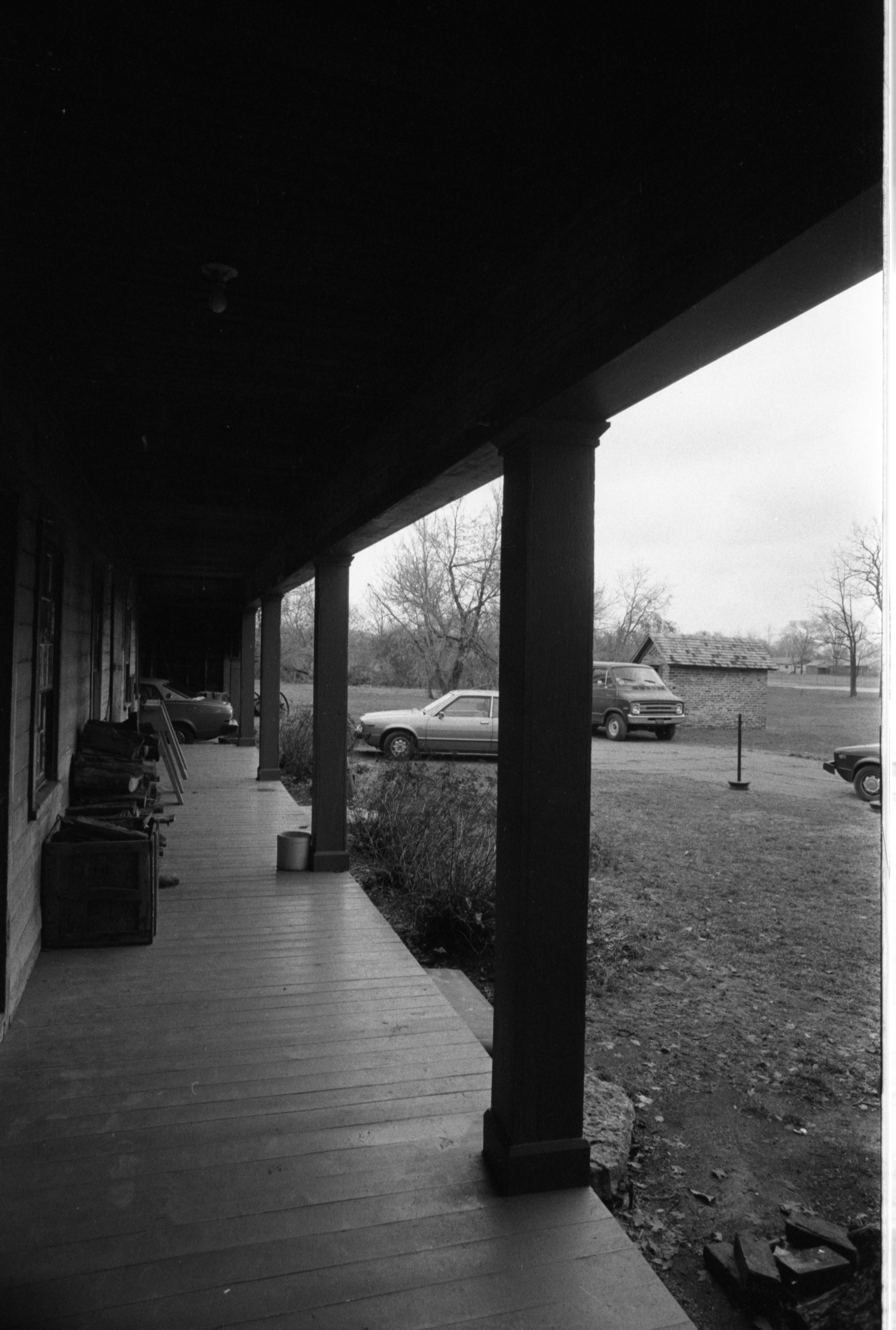 Front Porch At Cobblestone Farmhouse, December 22, 1980 image