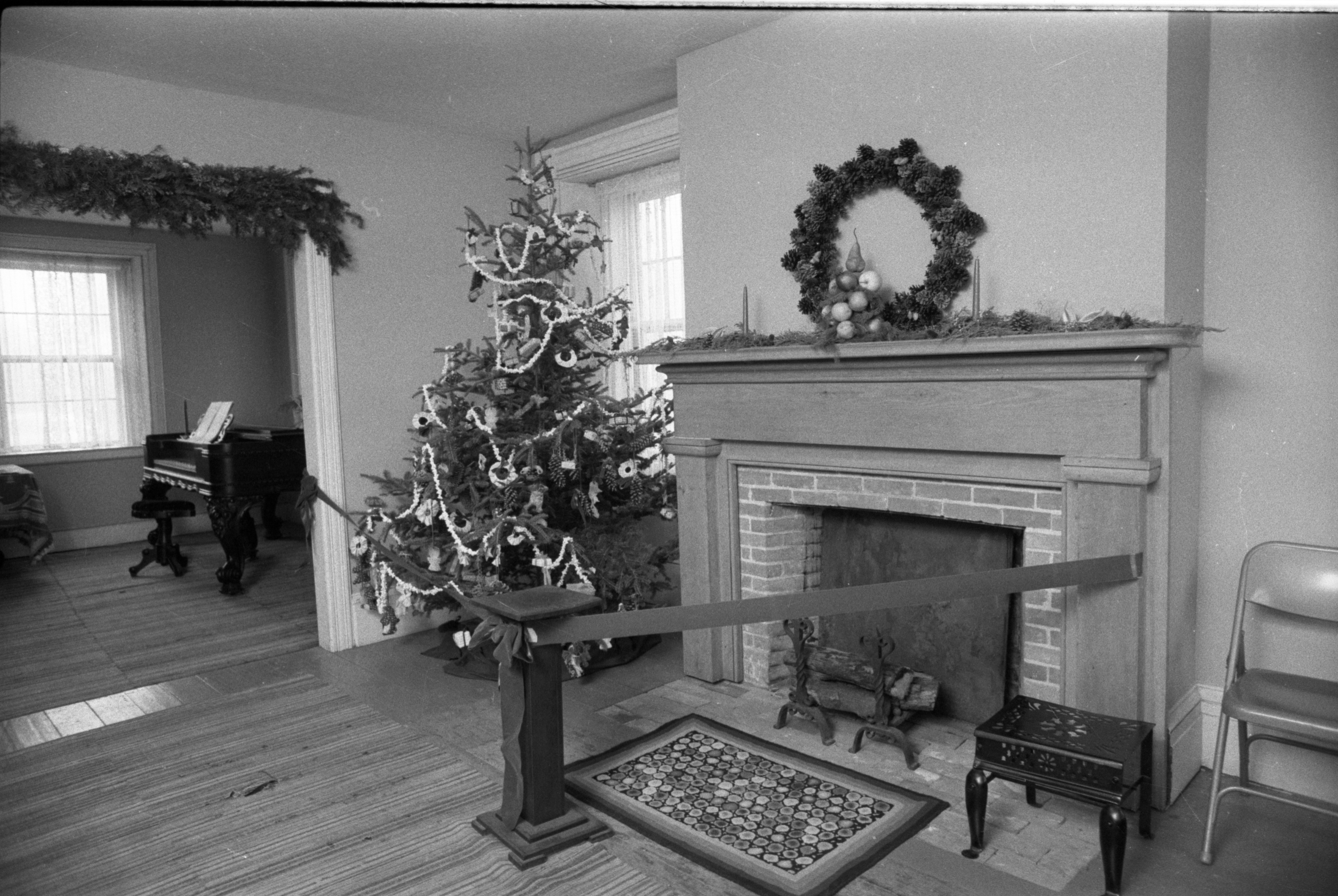 Christmas Tree & Other Decorations At Cobblestone Farmhouse, December 22, 1980 image