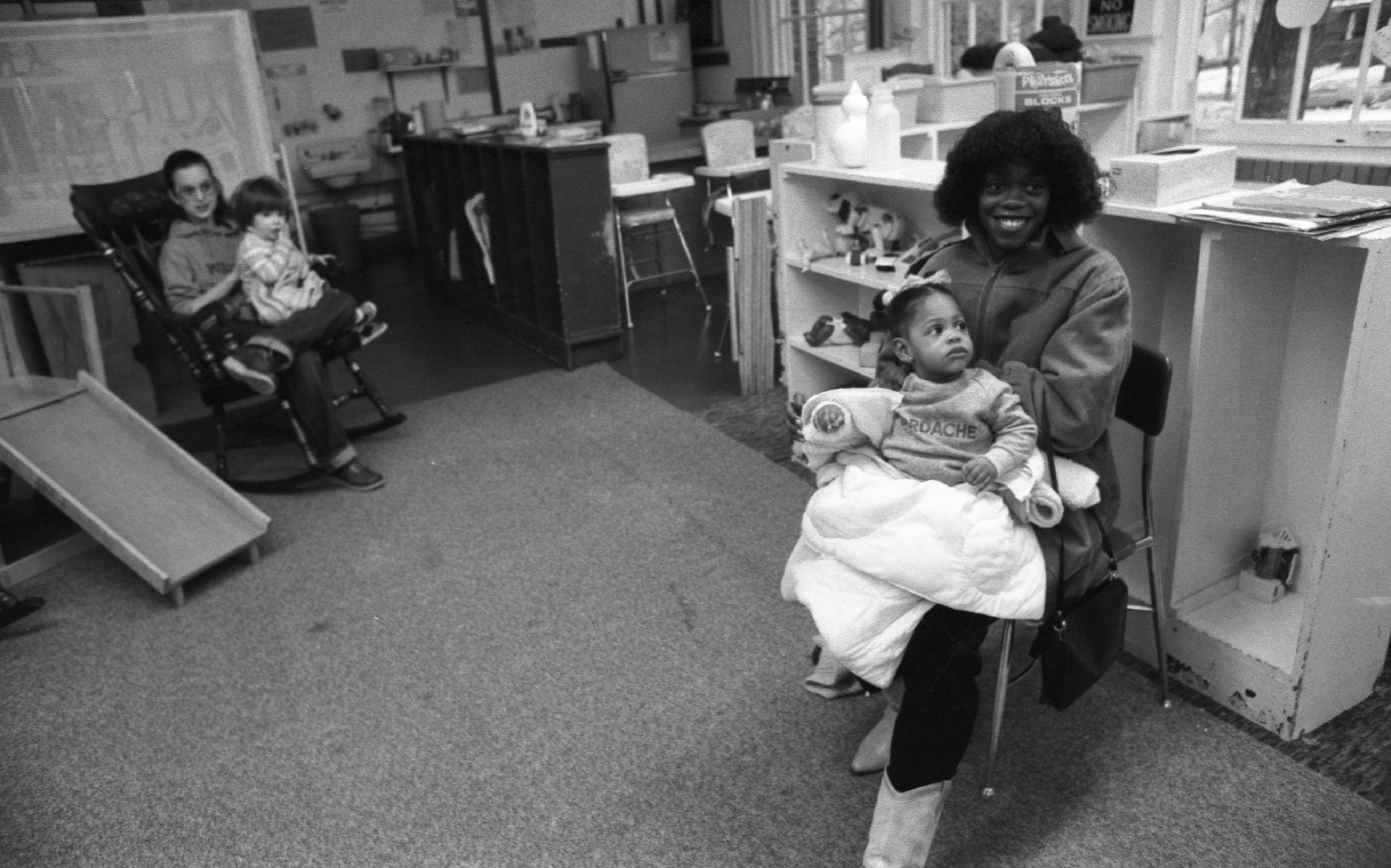 Dianna Taylor Participates In Washtenaw County's School-Age Parent Program, January 1982 image