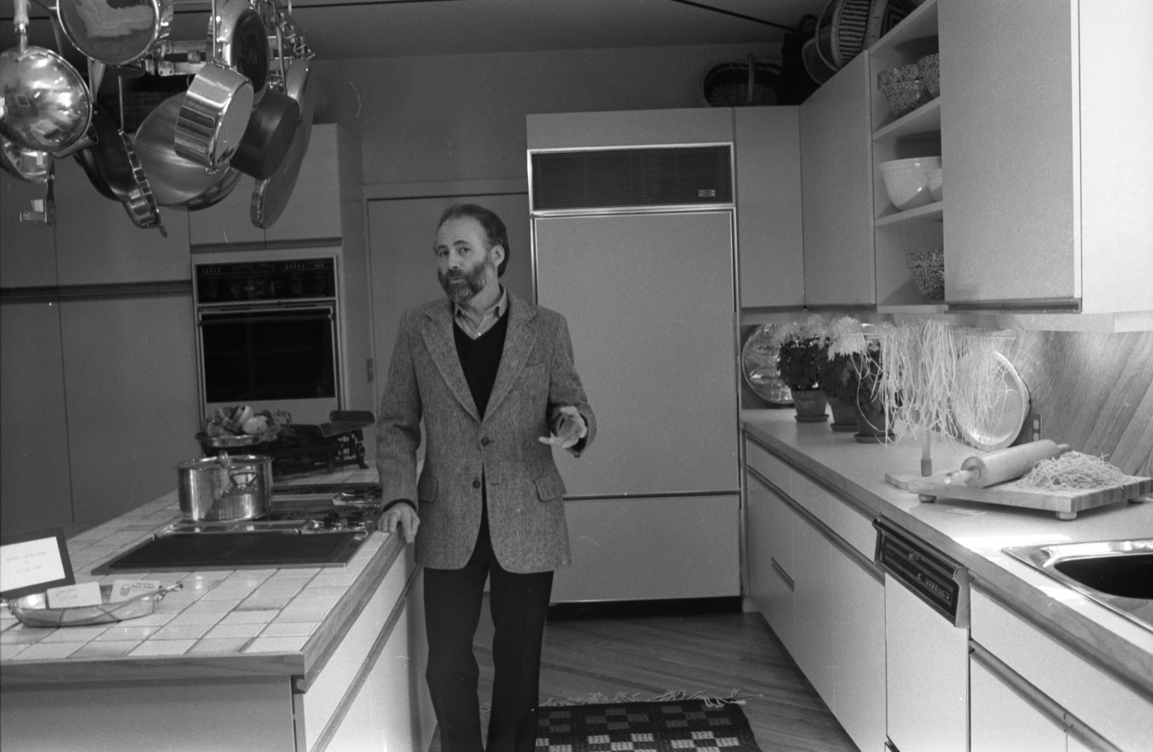 Jim DeRosia, Interior Designer For The Hermitage House Kitchen Remodel, March 10, 1982 image