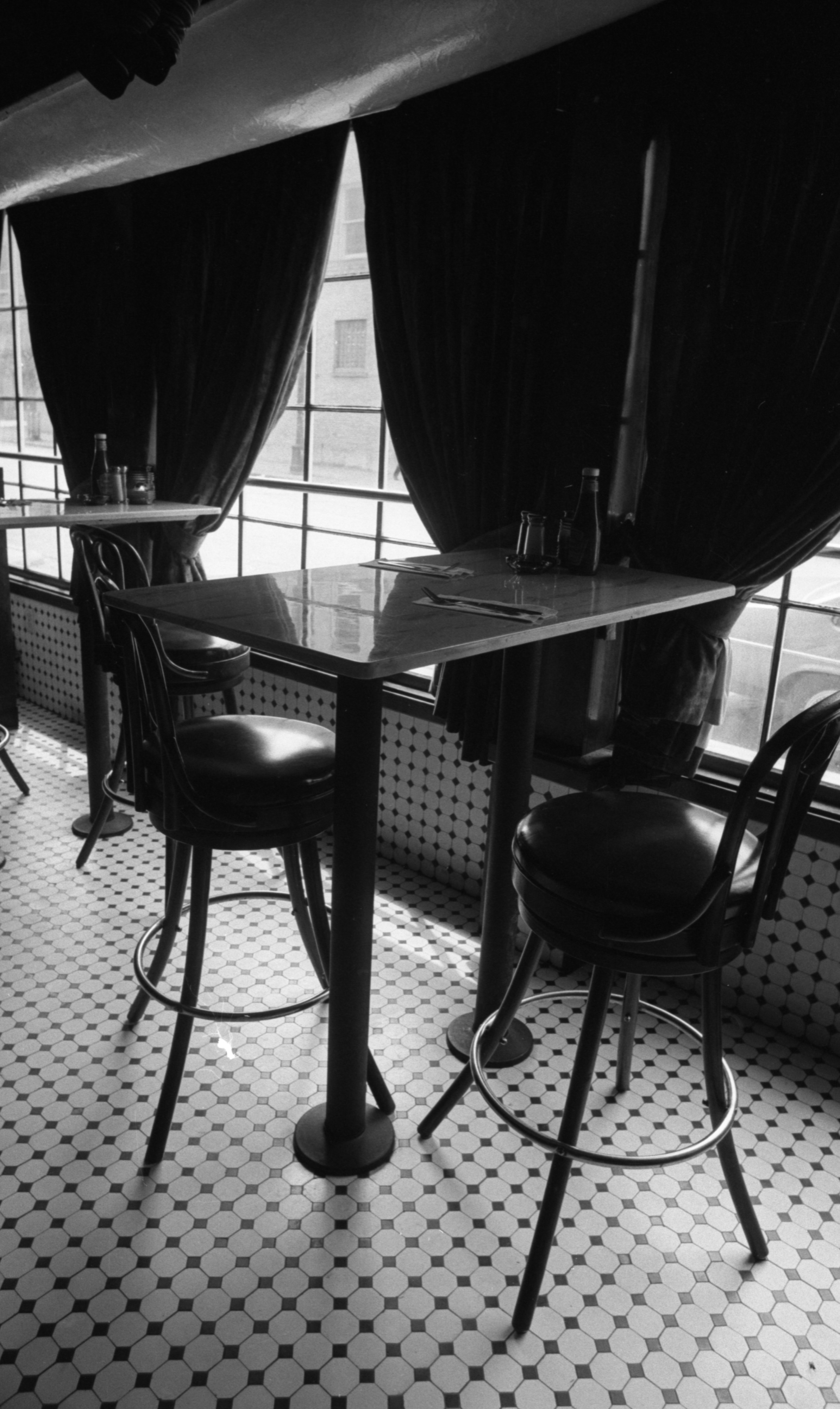 Tables At The Cracked Crab Restaurant Located At 112 W Washington St, May 1982 image