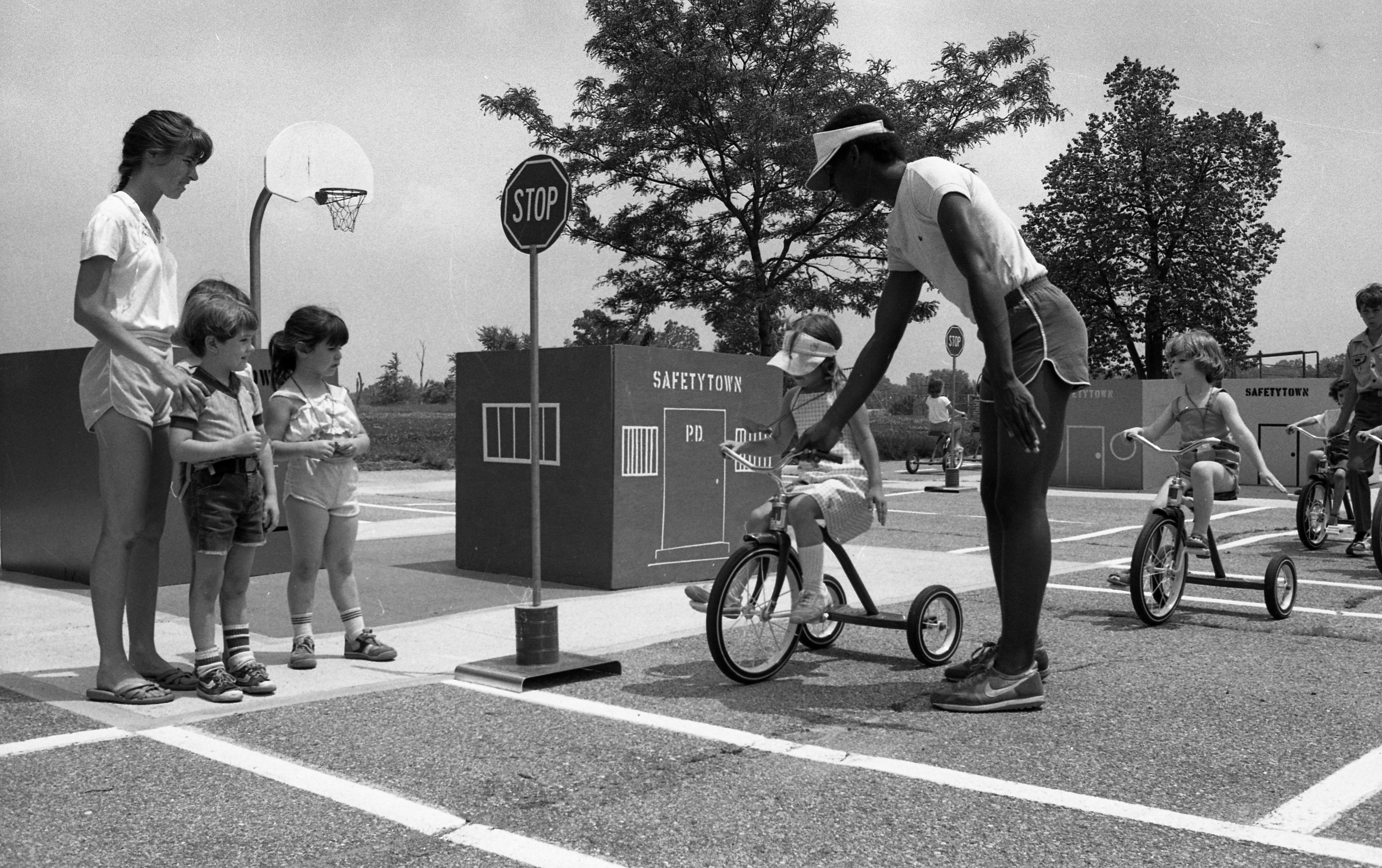 Pre-Kindergartens Learn the Rules of the Road at Safety Town, July 1982 image