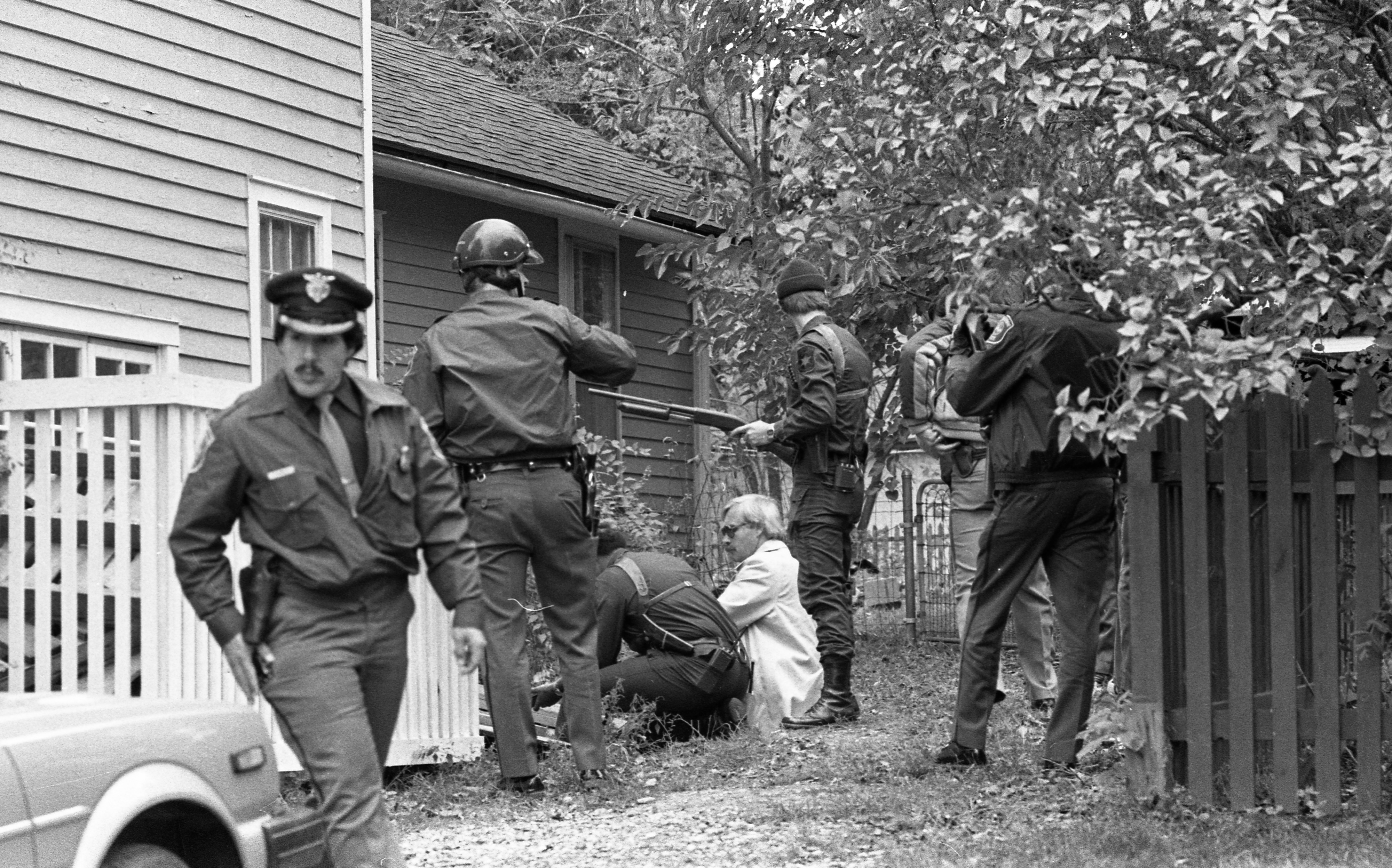 Ann Arbor Police Search Homes On Felch Street for Escaped Murderer Kyle Johnson, October 1982 image