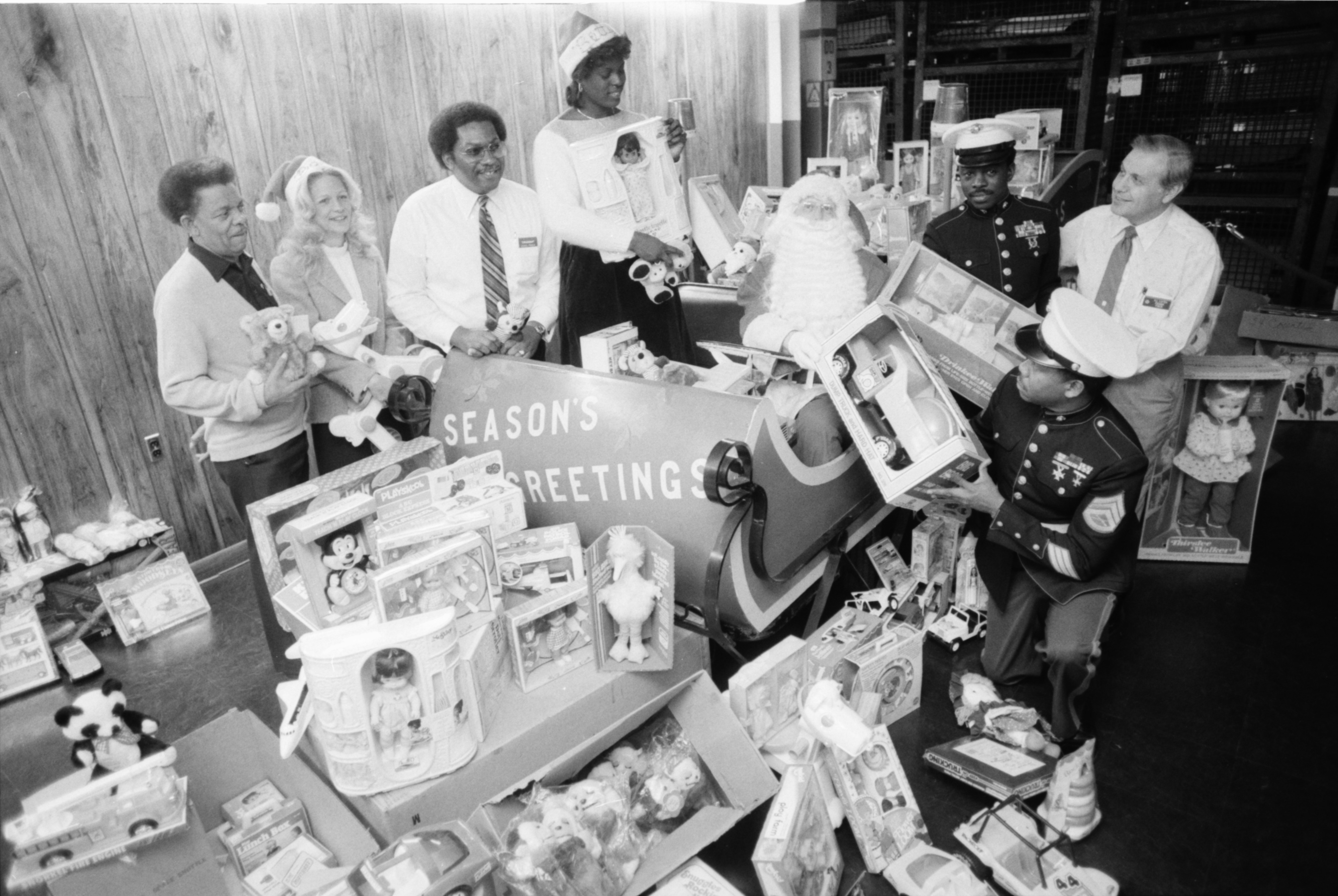 Toys for Tots program at the General Motors Assembly Plant at Willow Run, December 1982 image