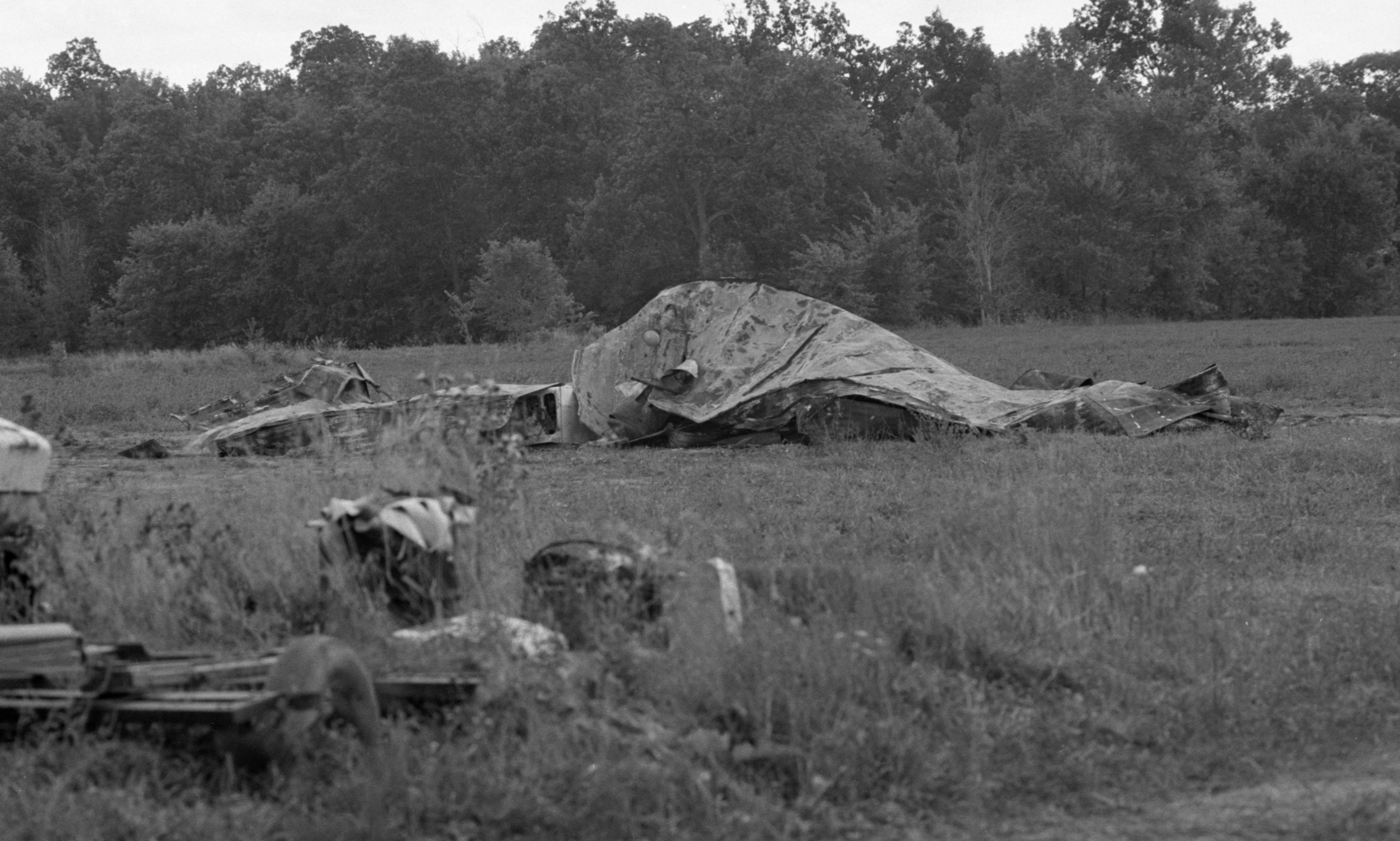 Remains Of The Trailer Once Occupied By Workers On The Kozminski Farm, October 1983 image