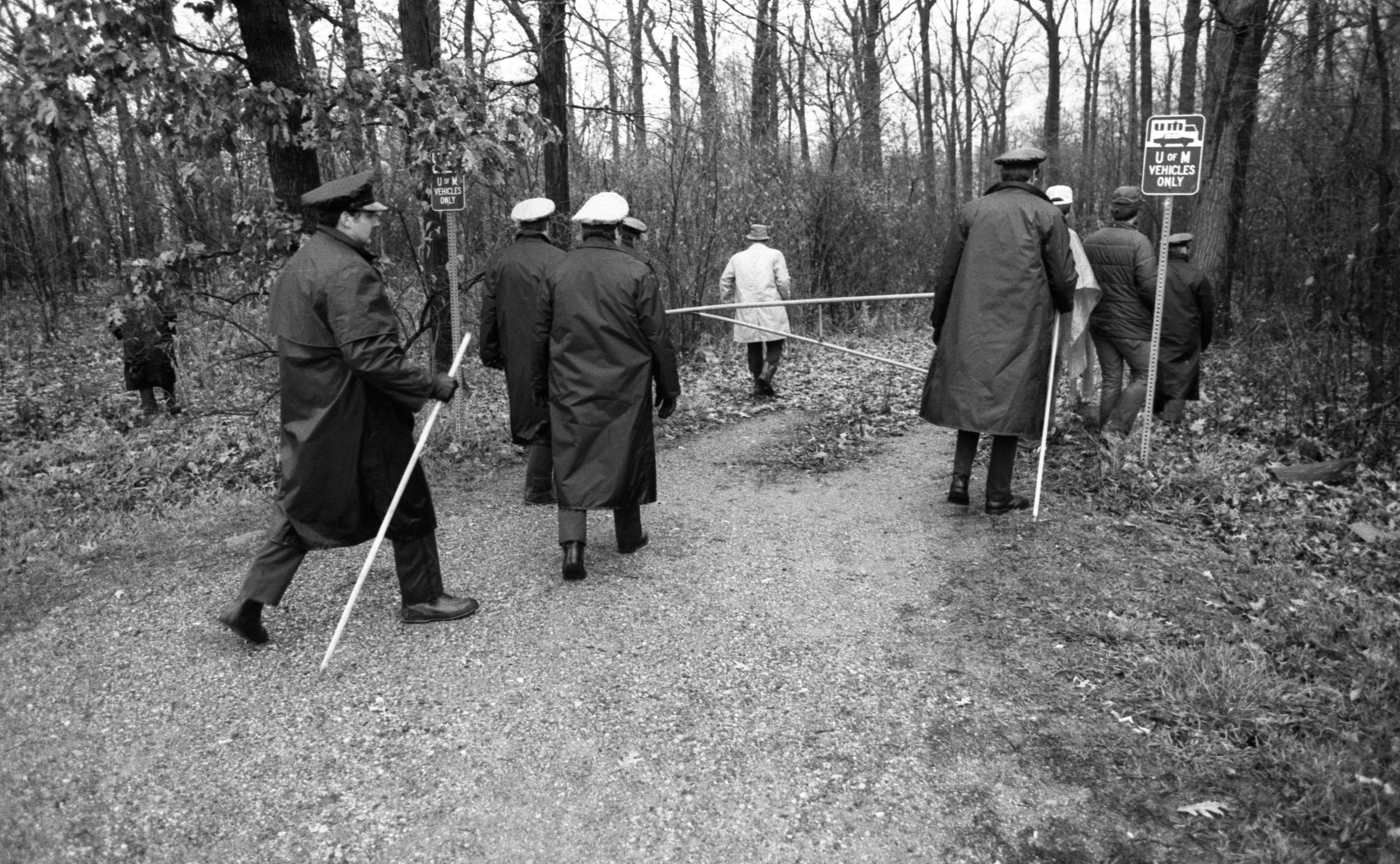 Ann Arbor Police Search University of Michigan Property For Purse in Nancy Faber Murder Investigation, November 1983 image