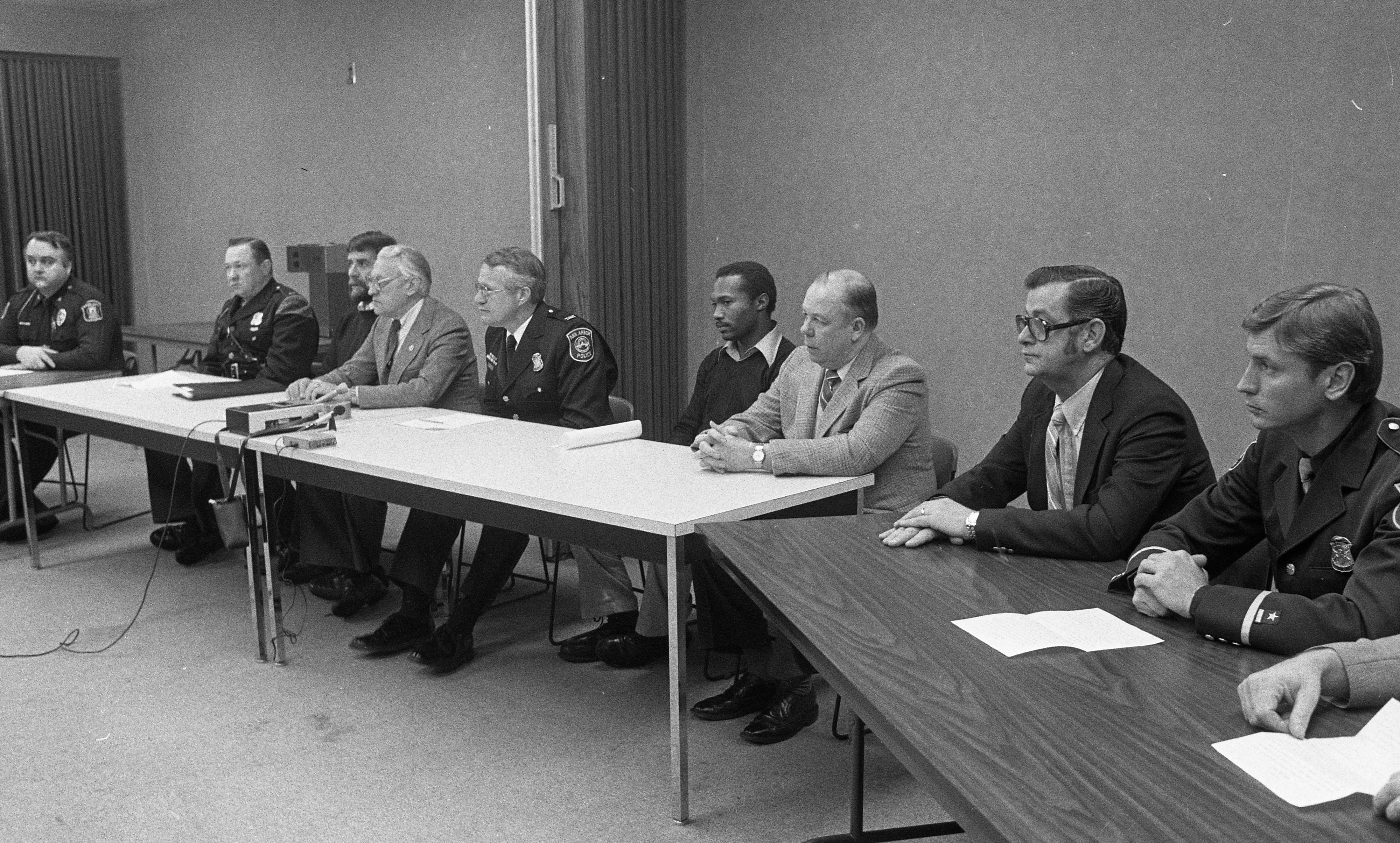 Law Enforcement Press Conference Announcing Arrest In Nancy Faber Murder Investigation, December 1983 image