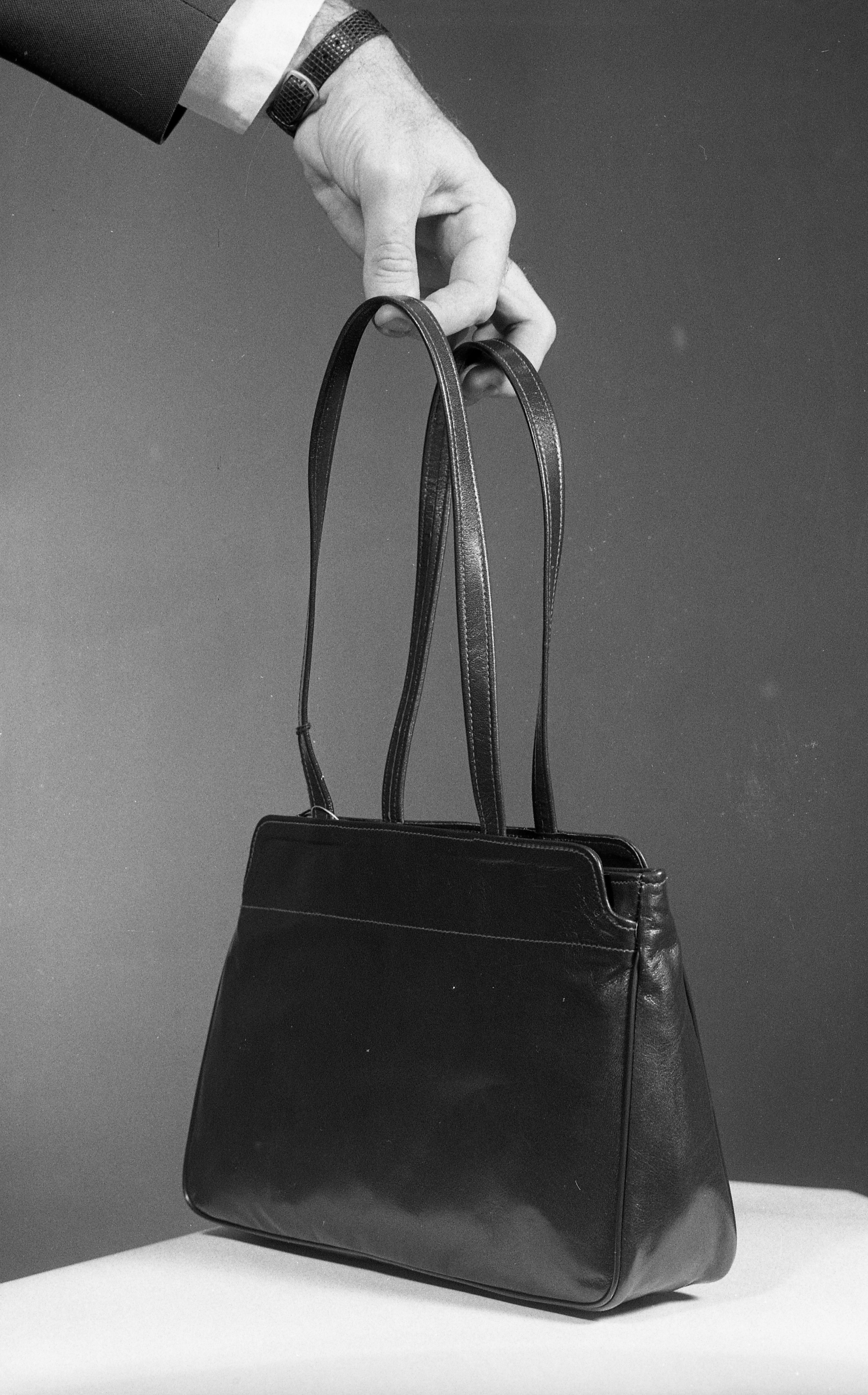 Ann Arbor Police Display Purse Like One Owned by Murder Victim Nancy Faber, November 1983 image