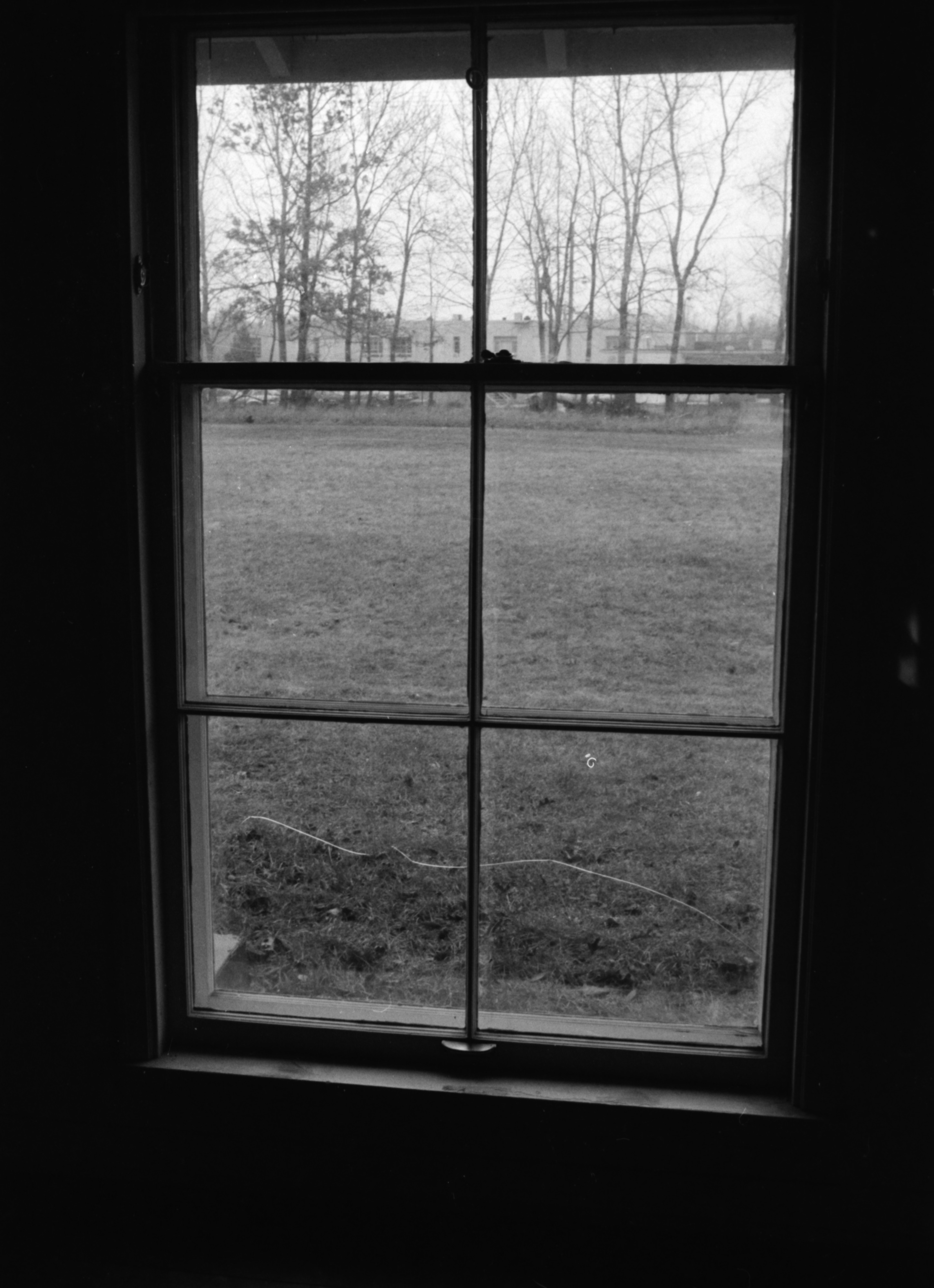 View of Cracked Window Pane at Pittsfield Village, 1983 image