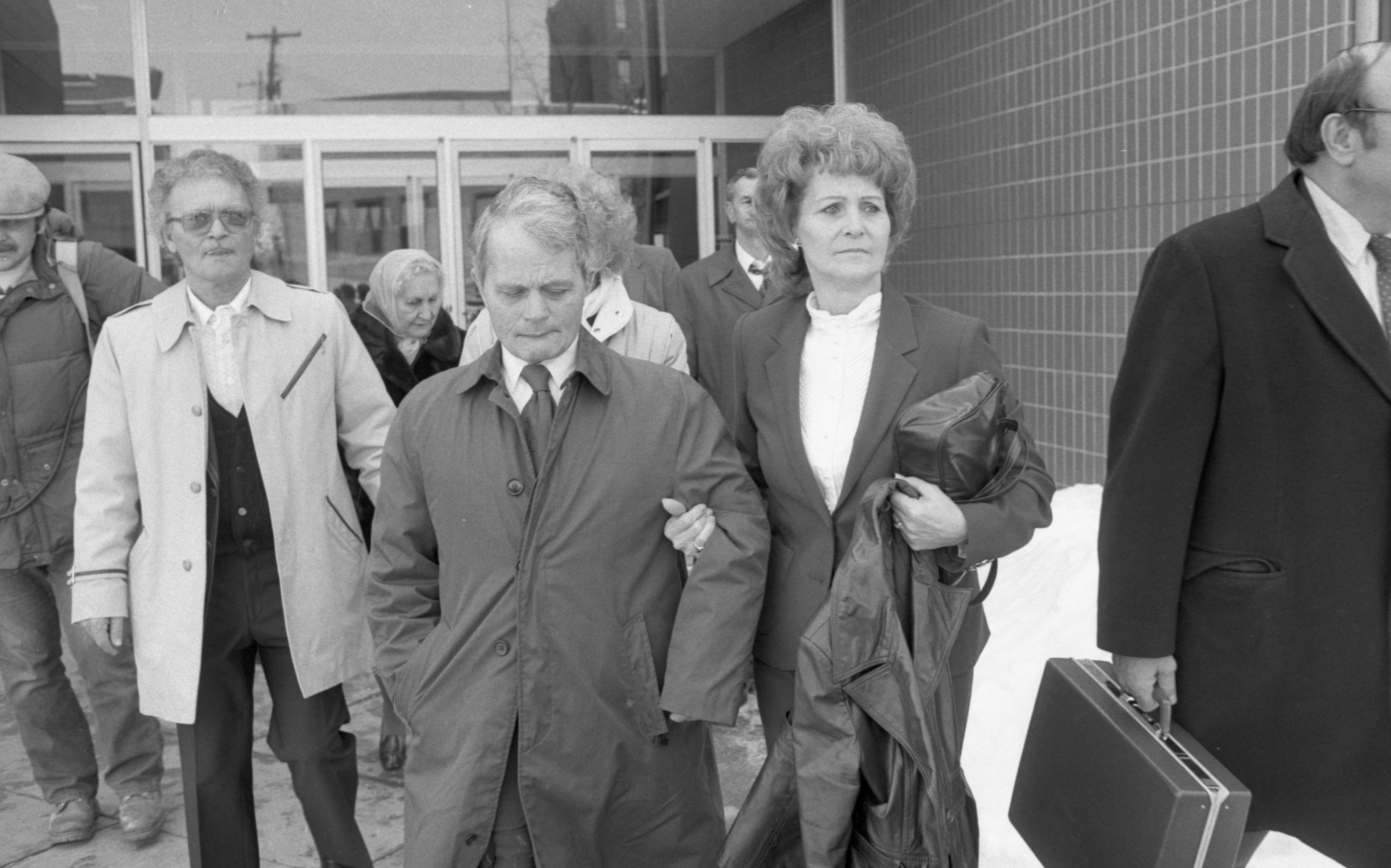 Bob Fulmer, Louis Molitoris, & Family Members, Leave Federal Court, February 1984 image