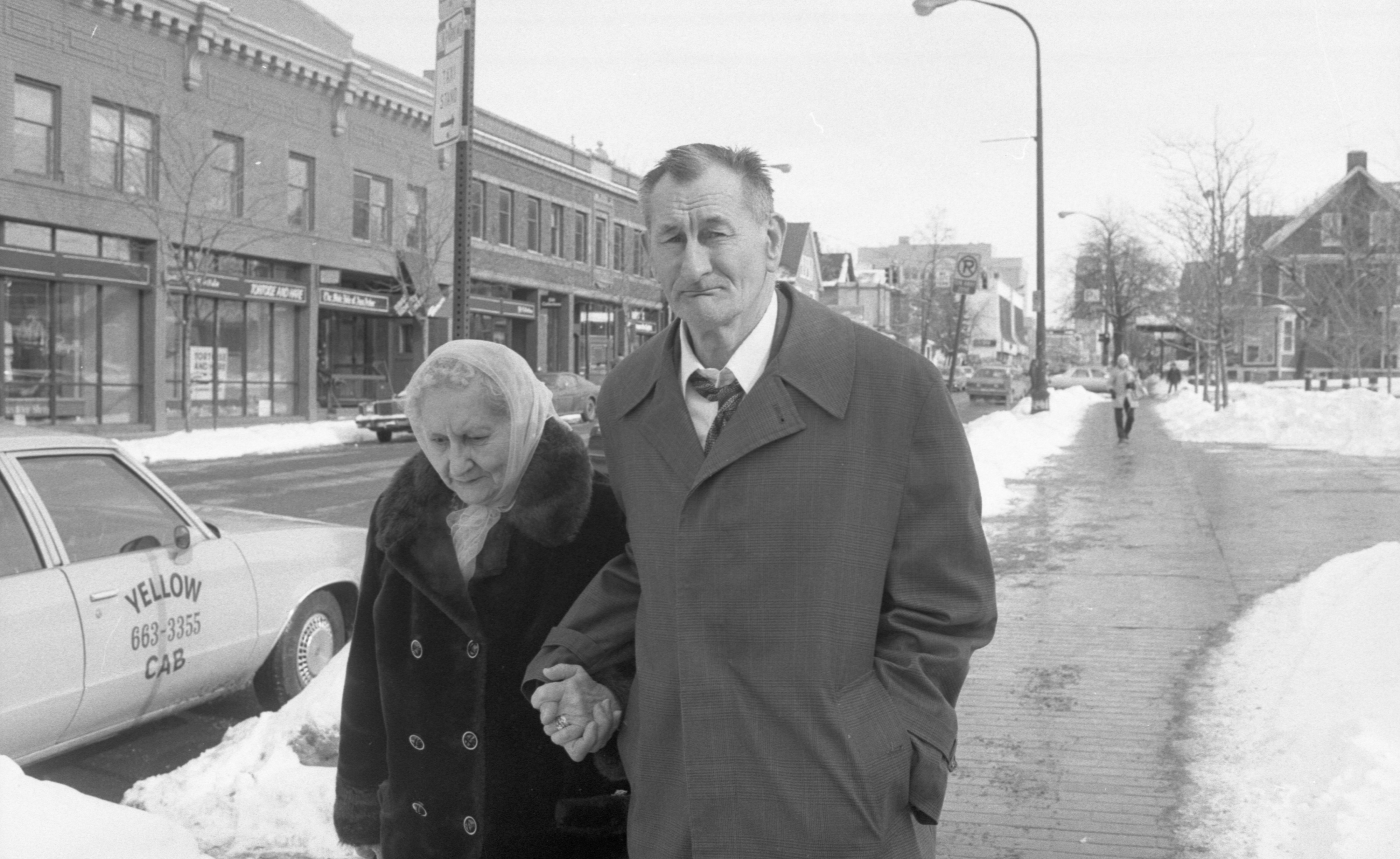 Louis Molitoris & His Sister Leave Federal Court, February 1984 image