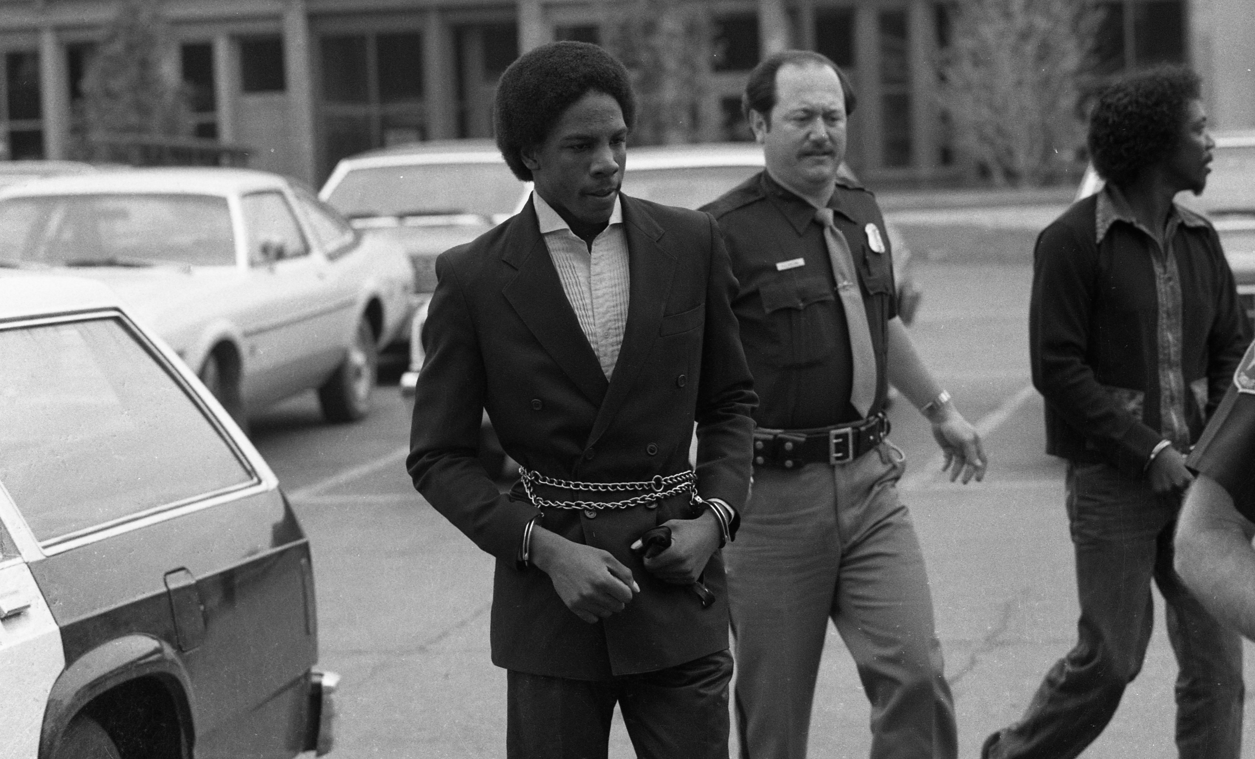 Ricardo Hart, Suspect in Nancy Faber Murder, Escorted to Court, June 1984 image