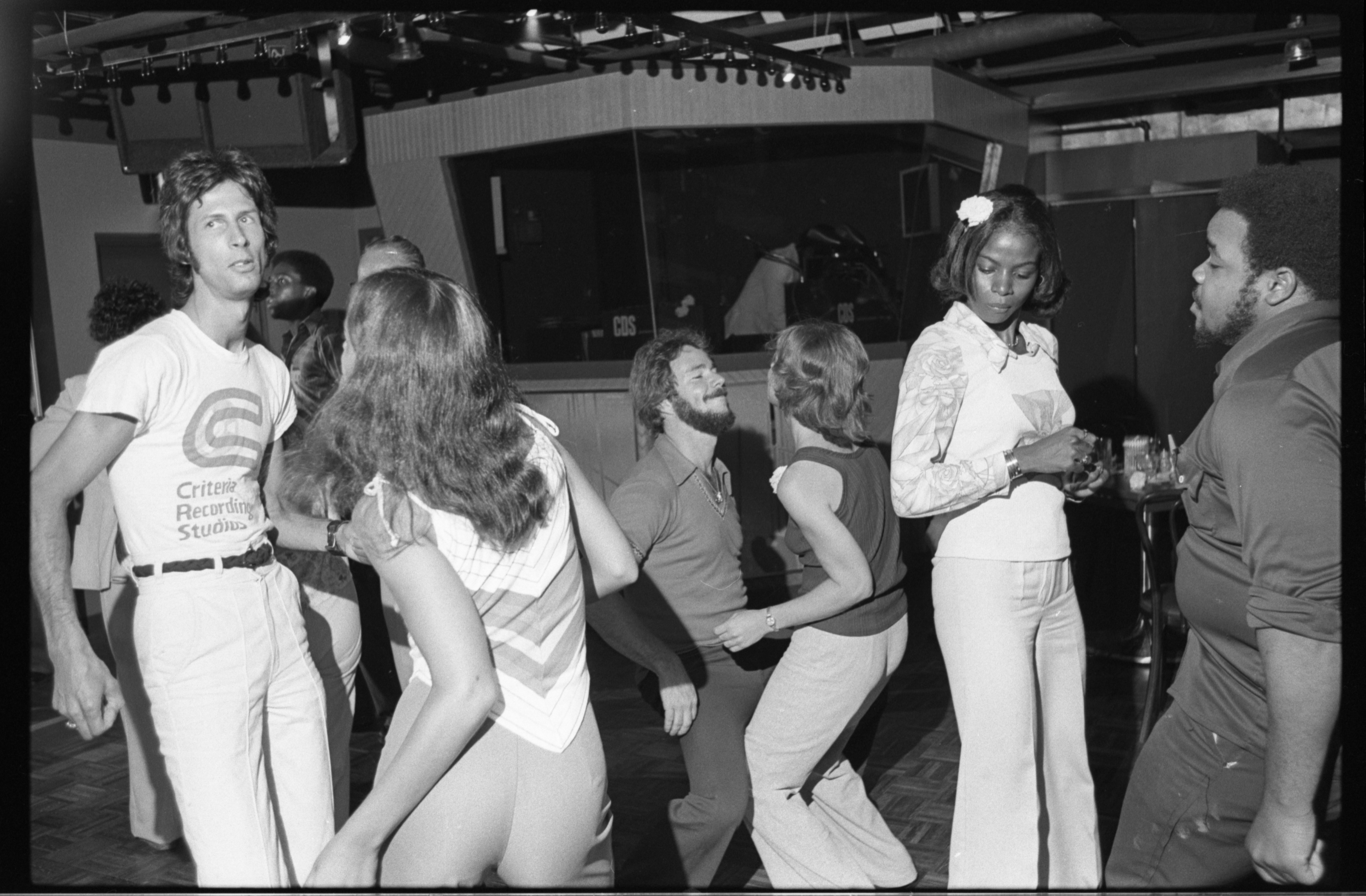 Disco Dancing at The Blue Frogge, August 1976 image