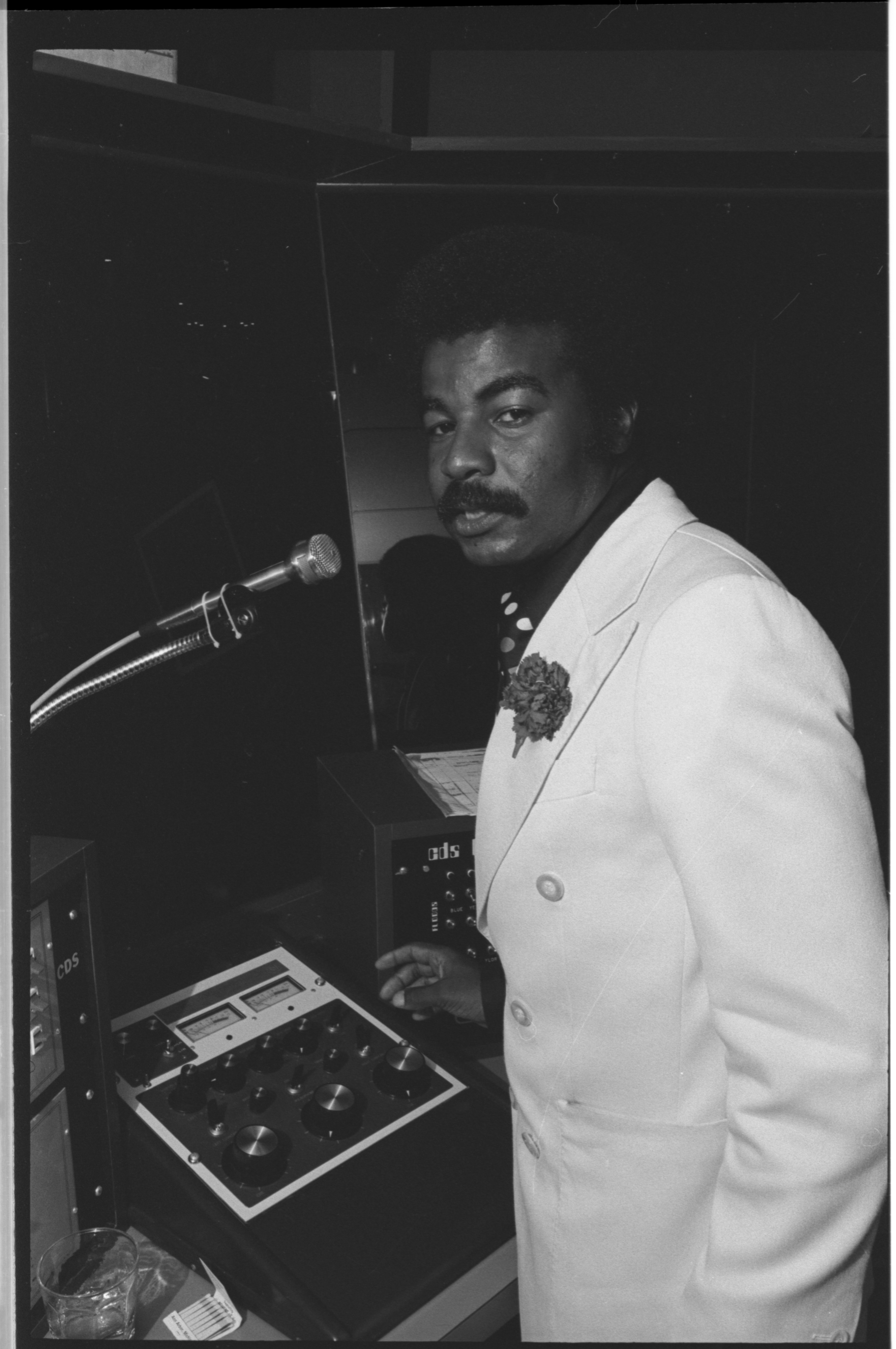 "Disco DJ ""MoJo"" at The Blue Frogge, August 1976 image"