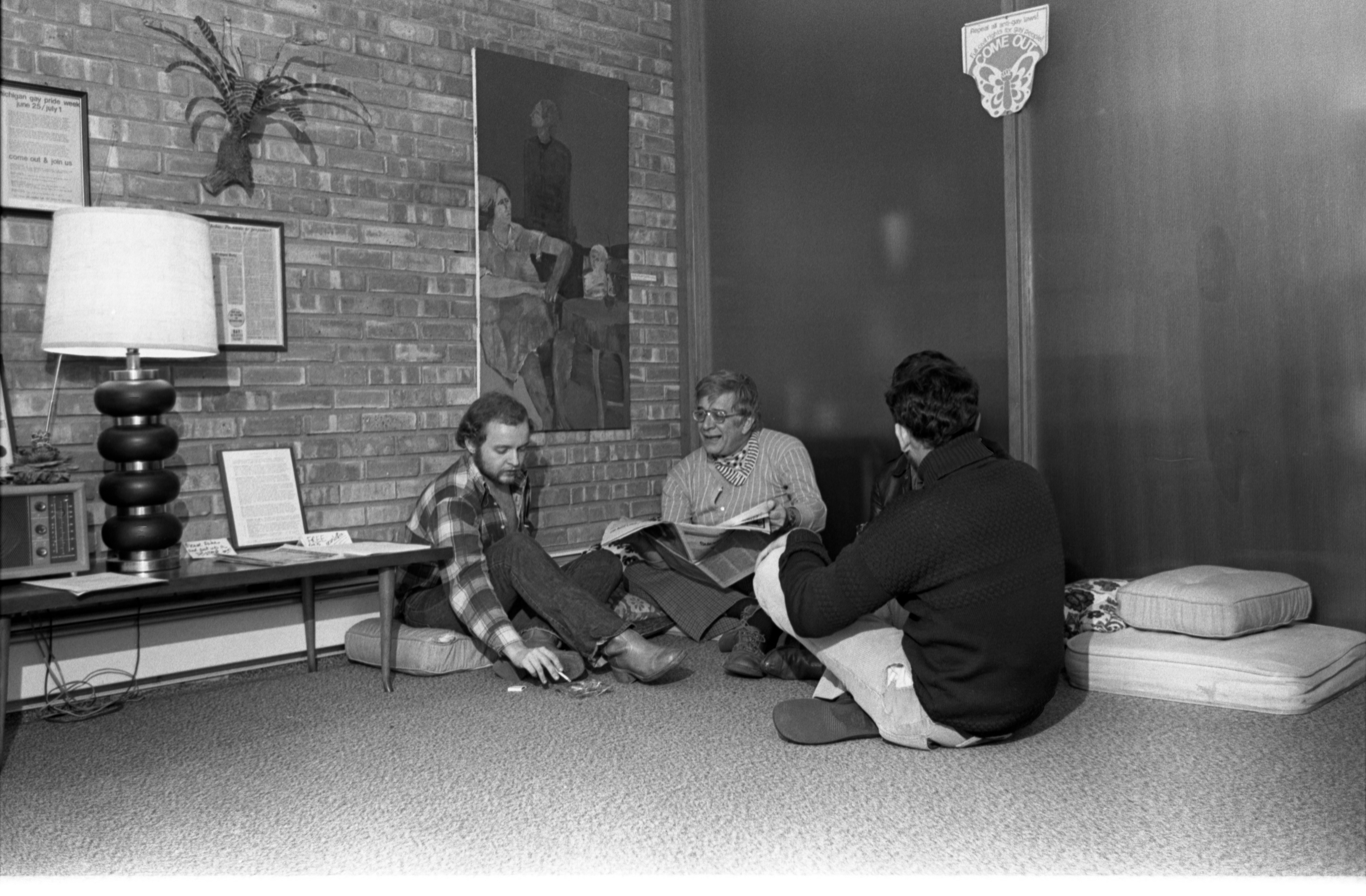 Members Of The Gay Community Services Center At 612 S. Forest, December 1, 1976 image