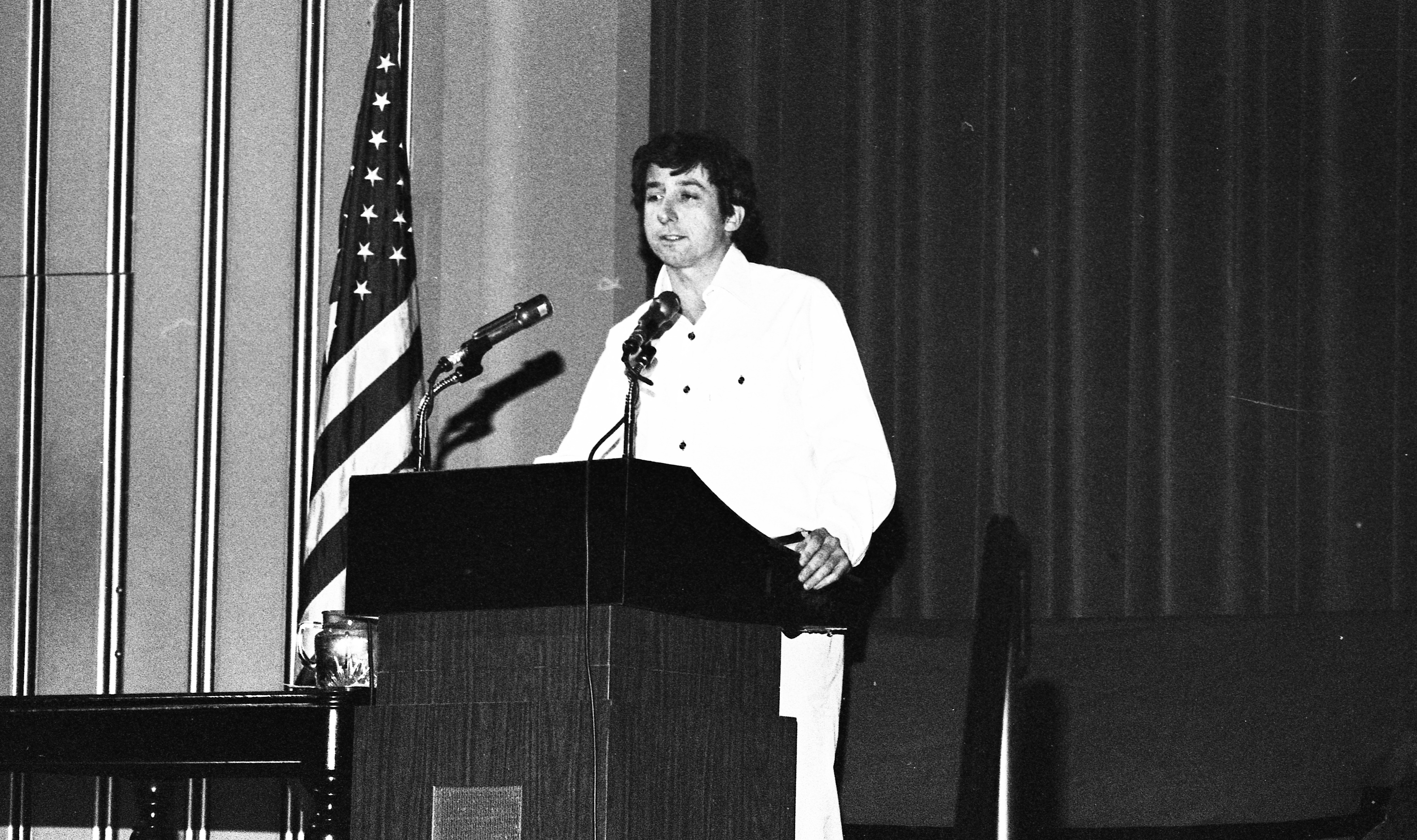 Tom Hayden Speaks at Rackham Auditorium, January 1977 image